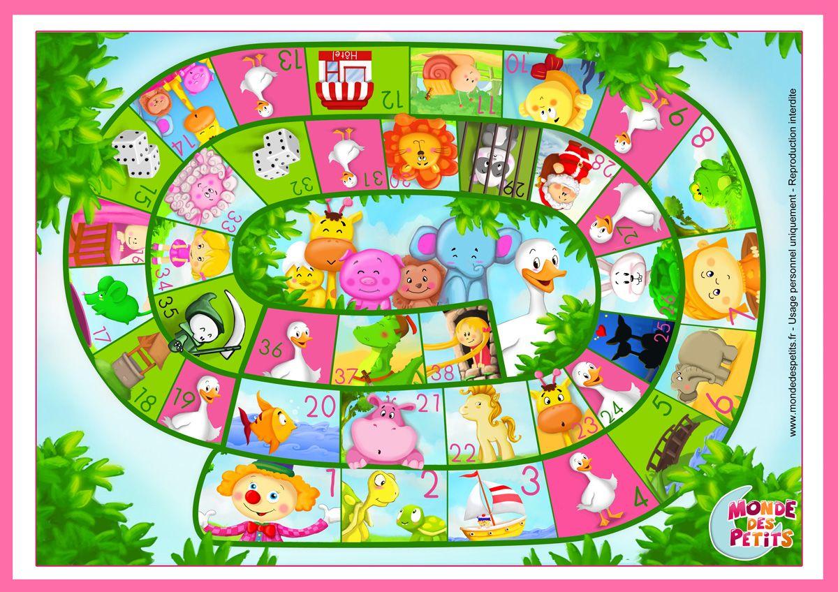 Bordspel Voor Kleuters, Free Printable / Jeu-Oie | Jeu De L concernant Jeux Maternelle Petite Section Gratuit