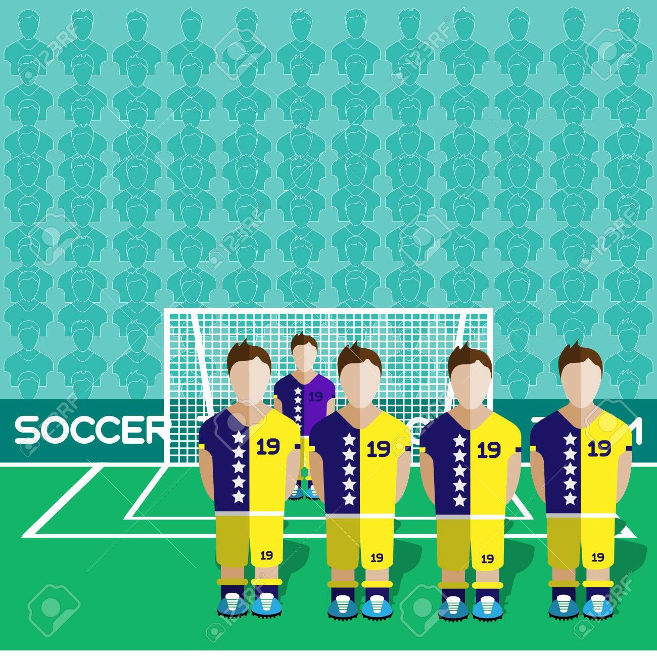 Bosnie-Herzégovine Football Club Soccer Players Silhouettes. Jeux  Rmatiques Équipe De Football Joueurs Big Set. Graphique Sportif.  Les Équipes tout Jeux De Gardien De Foot
