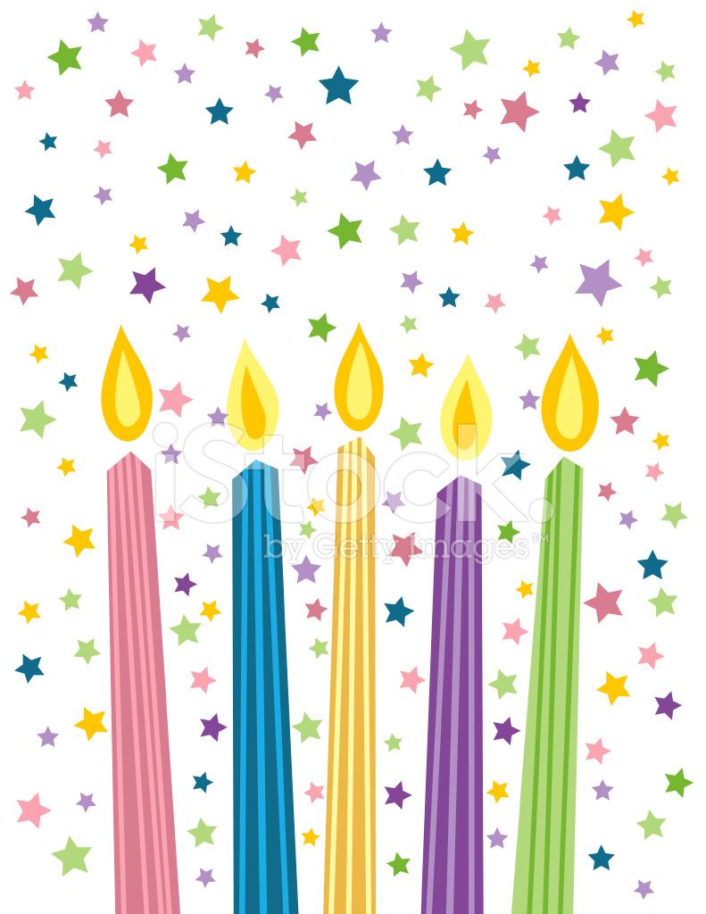 Bougies D'anniversaire De Dessin Animé Stock Vector à Dessin Sur Bougie