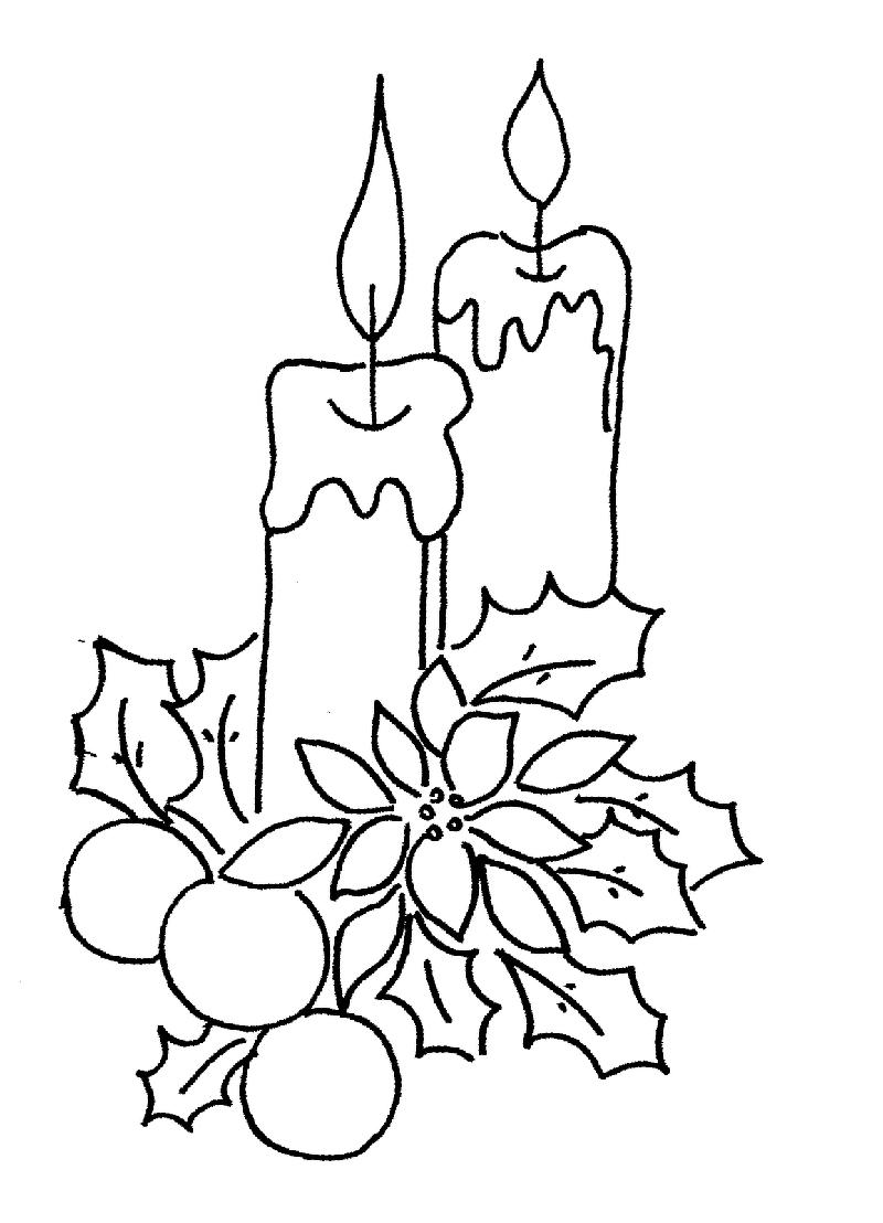 Bougies De Noël | Coloriage Noel, Couleurs De Noël, Dessin Noel à Dessin Sur Bougie