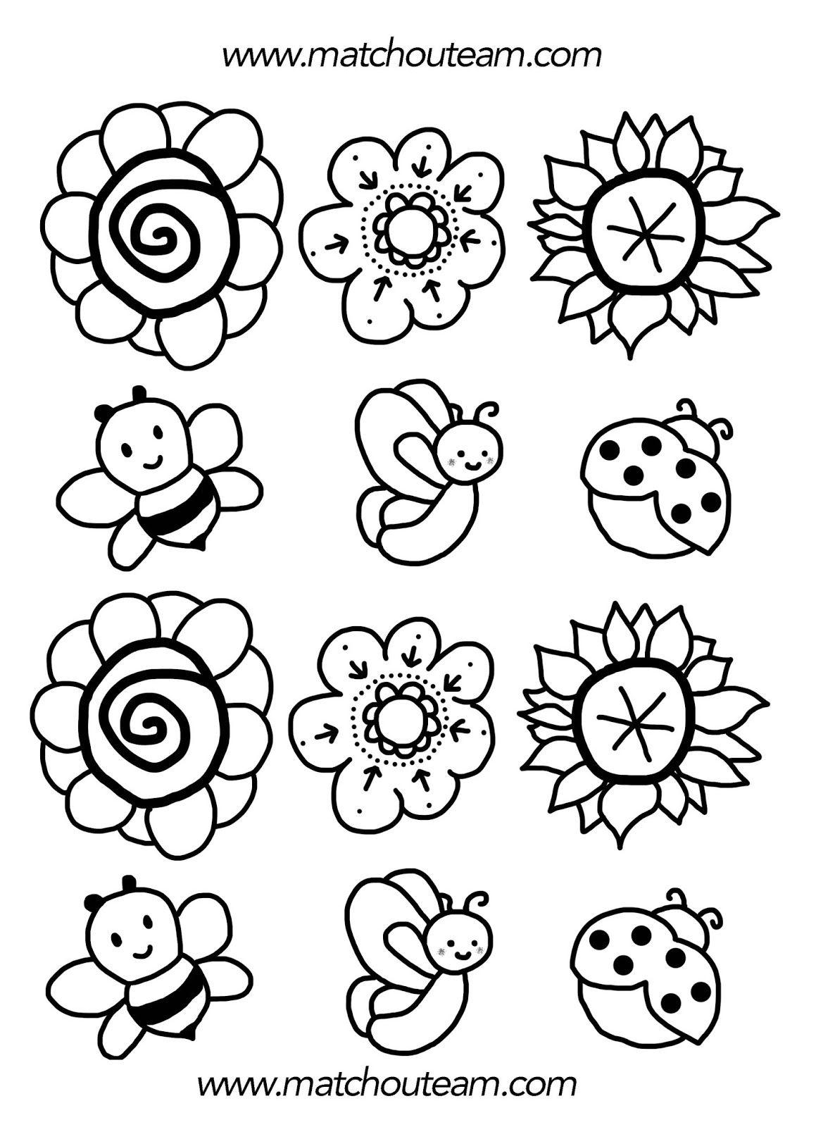 Bouquet De Printemps | Coloriage Printemps, Coloriage Fleur serapportantà Dessin A Colorier De Fleur