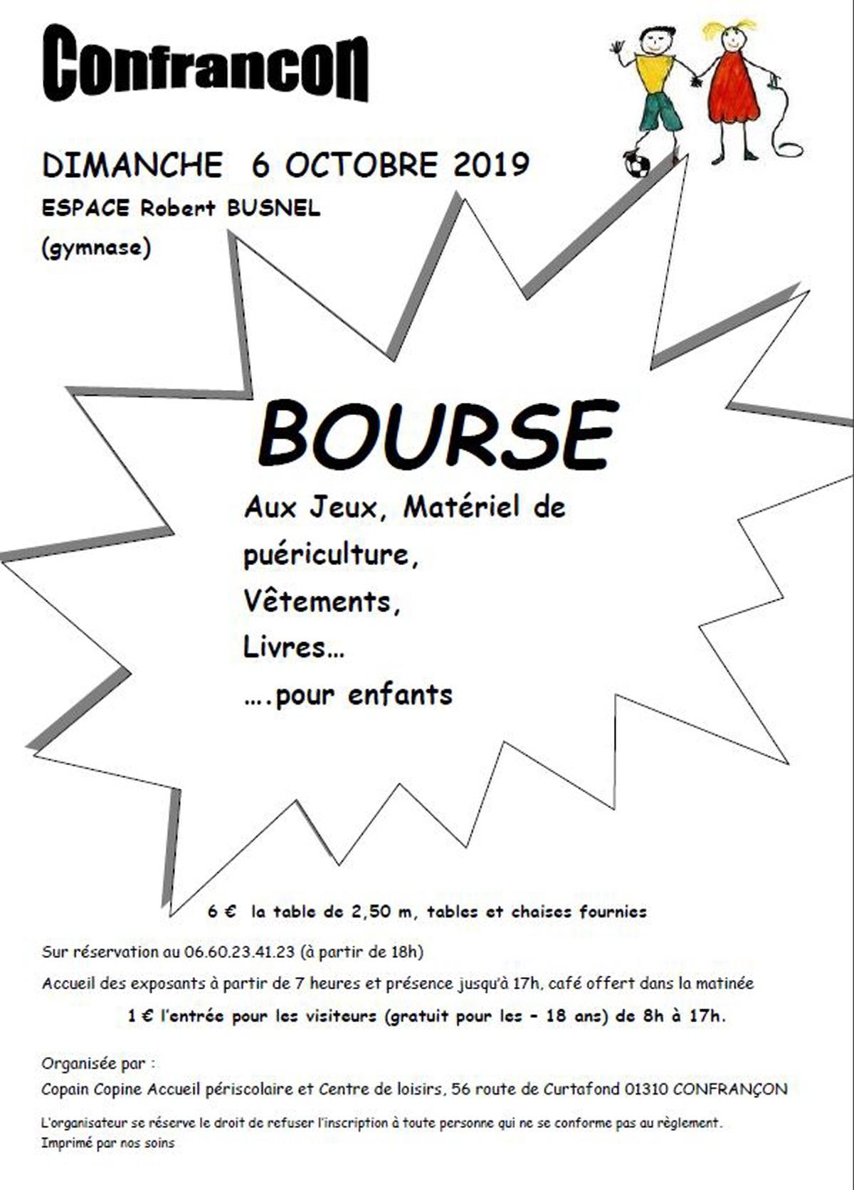 Bourse Aux Jeux : Bourse De Puericulture A Confrancon dedans Jeux De 6 Ans Gratuit