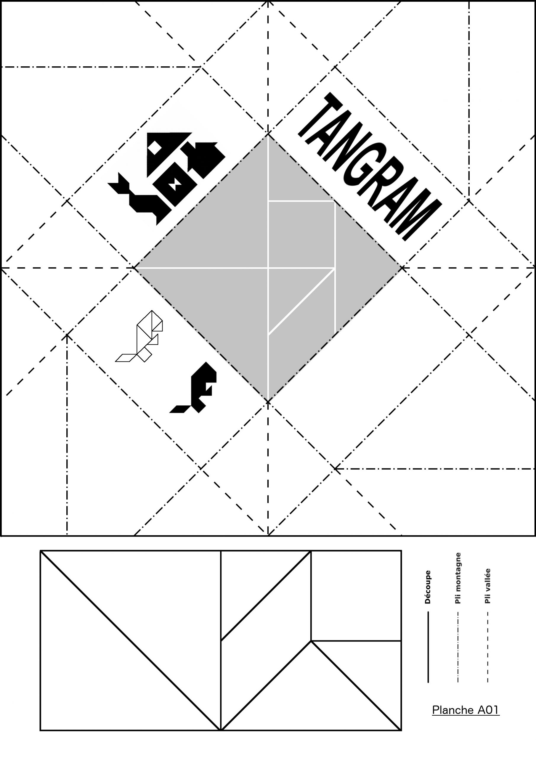 Boutisses pour Tangram À Découper