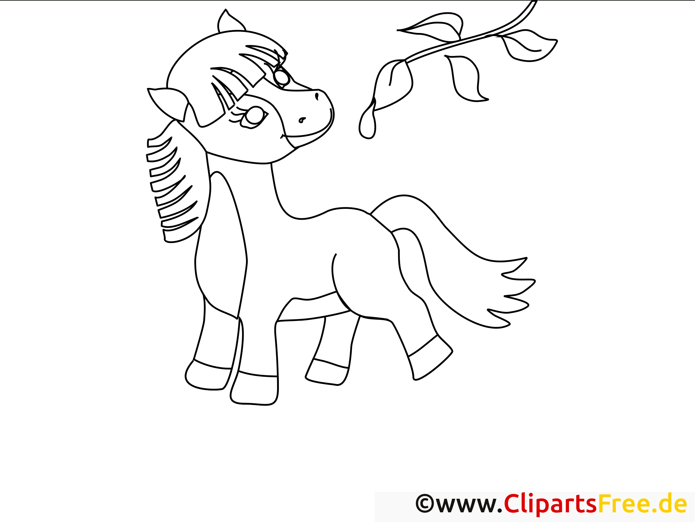 Branche Clipart – Cheval Dessins À Colorier - Chevaux destiné Image De Cheval A Colorier