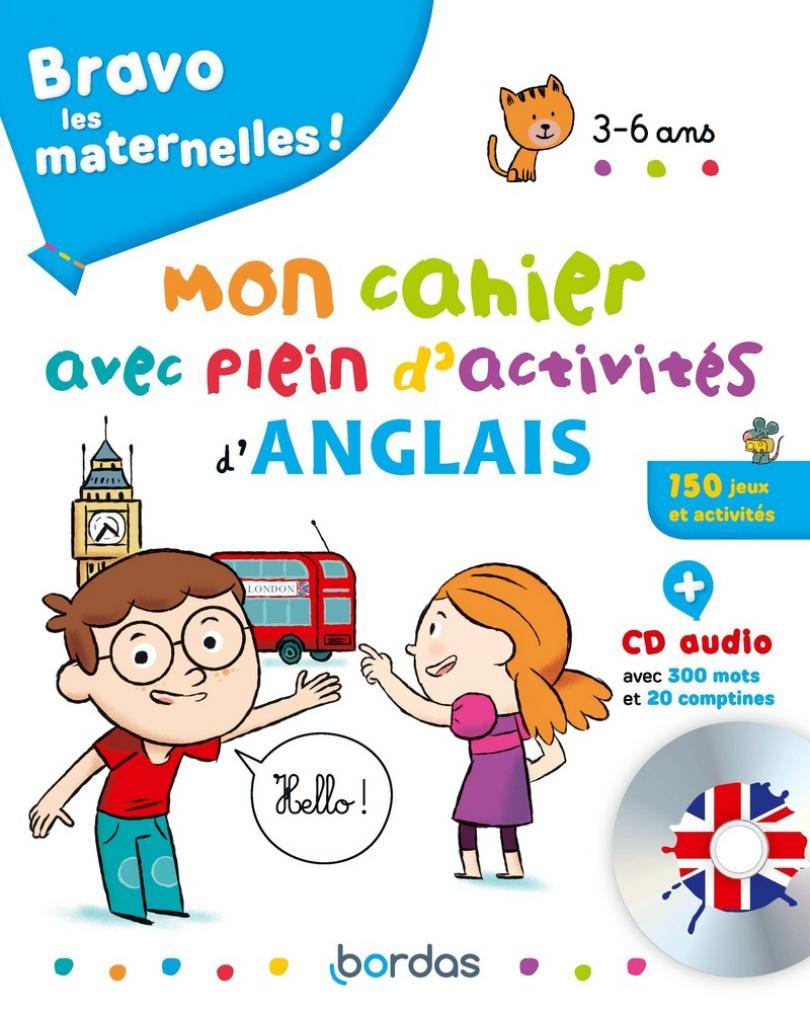 Bravo Les Maternelles - Mon Cahier Avec Plein D'activités D à Jeux En Anglais A Imprimer