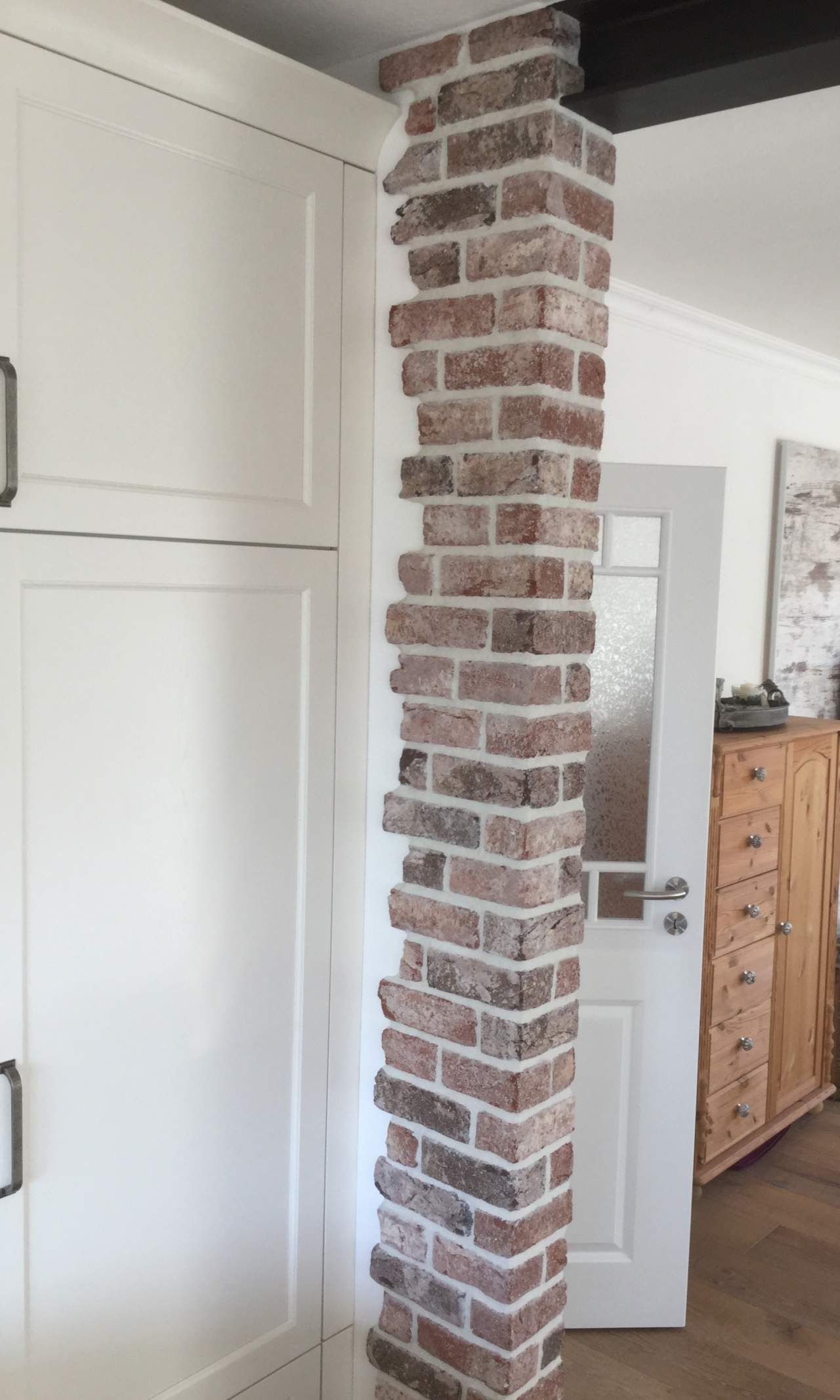 Brick / Clinker Cladding Brick, Room Dividers, Pillar intérieur Casse Brick