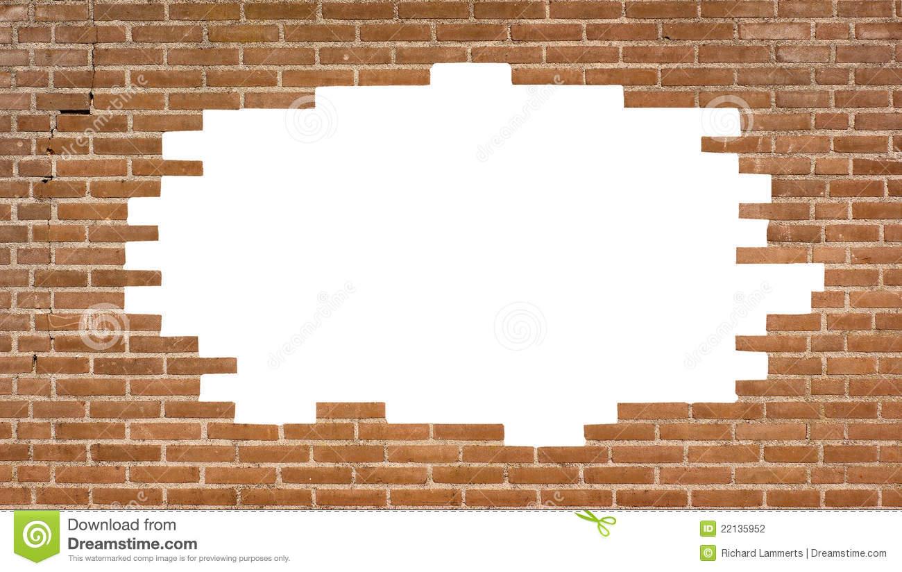 Brick Wall With A Large Hole Stock Photo - Image Of Brick avec Casse Brick