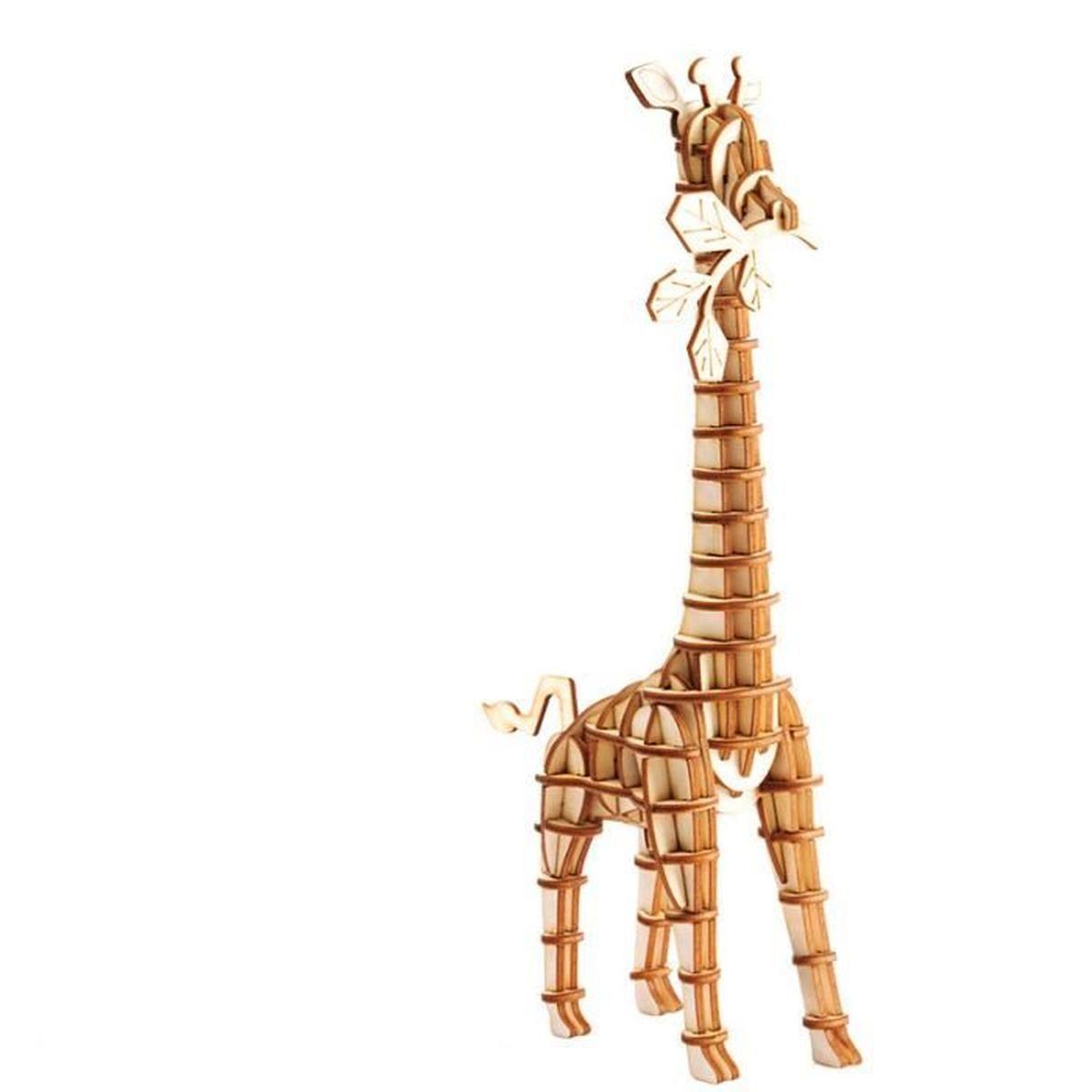 Bricolage 3D Puzzle Jeu D'assemblage Animaux Girafe Modèle En Bois Kit De  Construction Enfant Jouet Cadeau D'anniversaire Noël Fête dedans Jeux De Girafe Gratuit