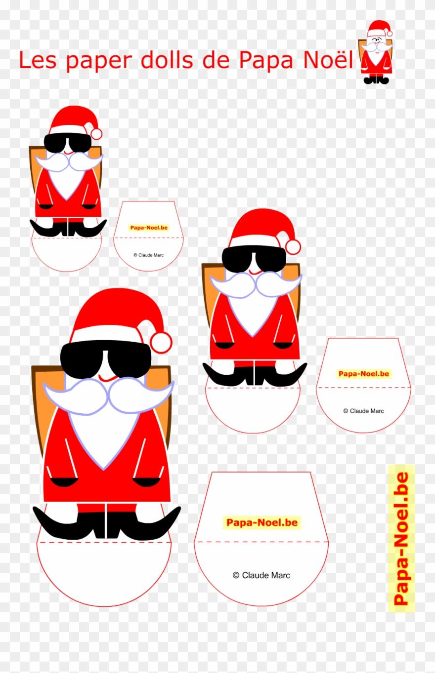 Bricolage De Noel Enfant Imprimer Le Paper Doll Noel avec Etiquette Noel À Imprimer