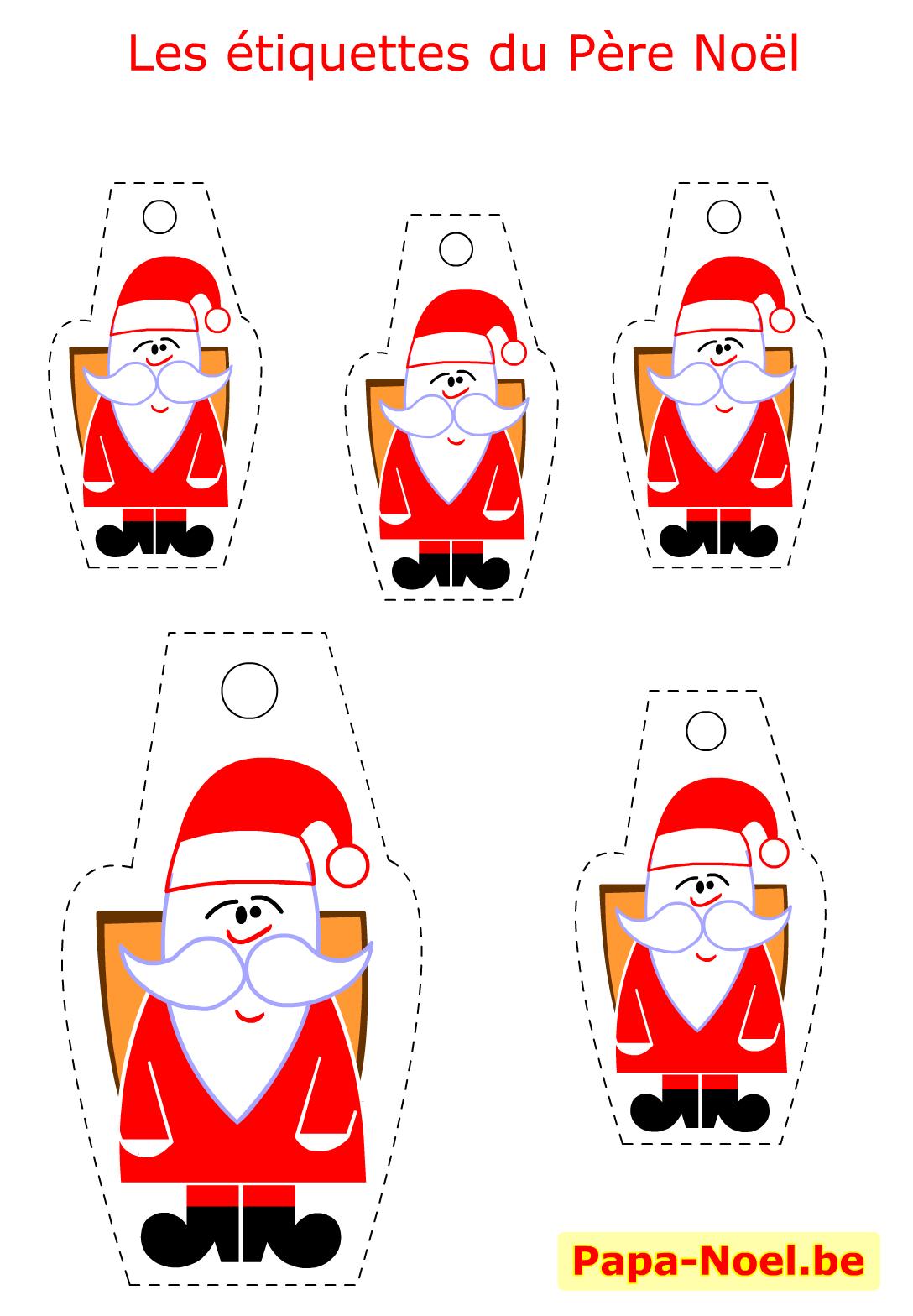 Bricolage Enfant Pere Noel Etiquettes A Imprimer Gratuites avec Etiquette Noel A Imprimer