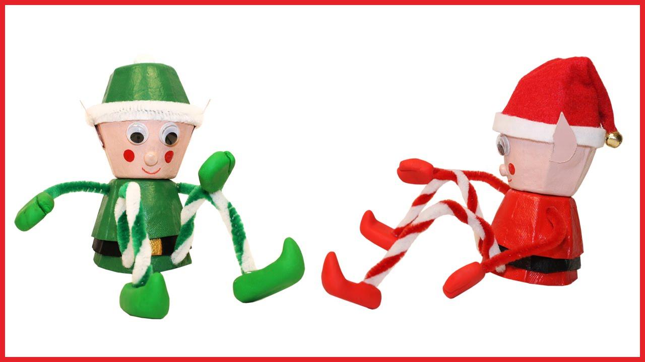 Bricolage Petit Lutin De Noël avec Fabrication De Pere Noel