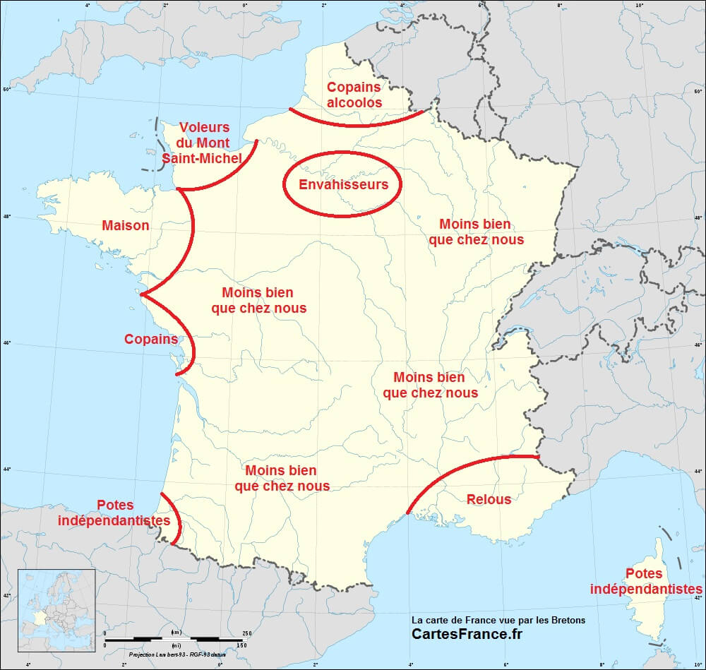 Brittany, Another Independence-Seeking European Region tout Carte De Region France