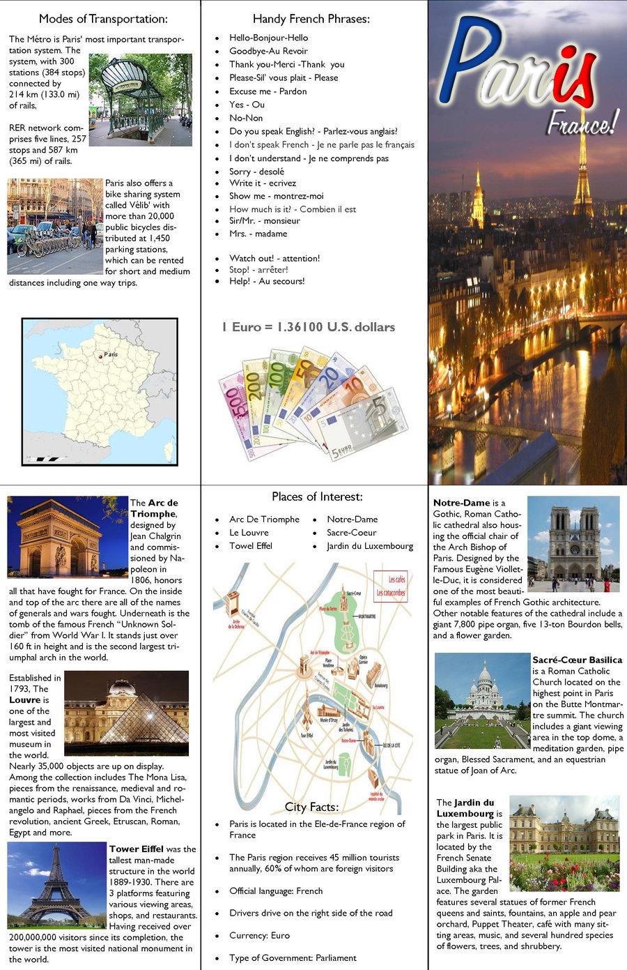 Brochure Samples Pics: Brochure Paris avec Combien De Region En France
