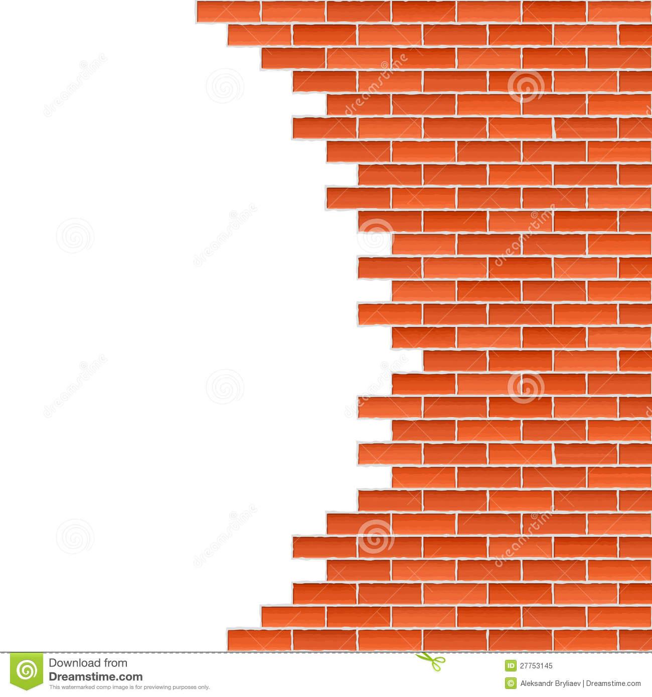 Broken Brick Wall Stock Vector. Illustration Of Aged - 27753145 destiné Casse Brick