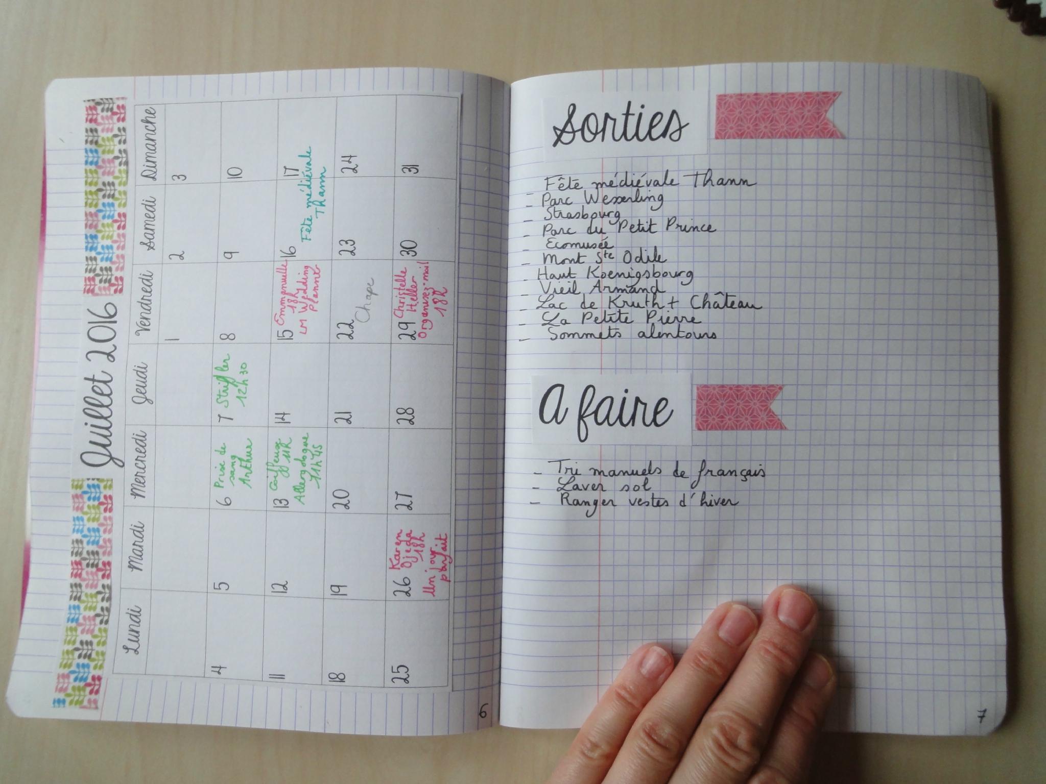 Bullet Journal - Vingt-Quatre Heures Une {24H01} dedans Journal De Vacances A Imprimer