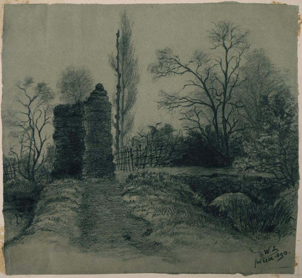 Bx 1990.2.112 Paysage D'hiver - Musée Des Beaux-Arts De Bordeaux pour Dessin De Paysage D Hiver