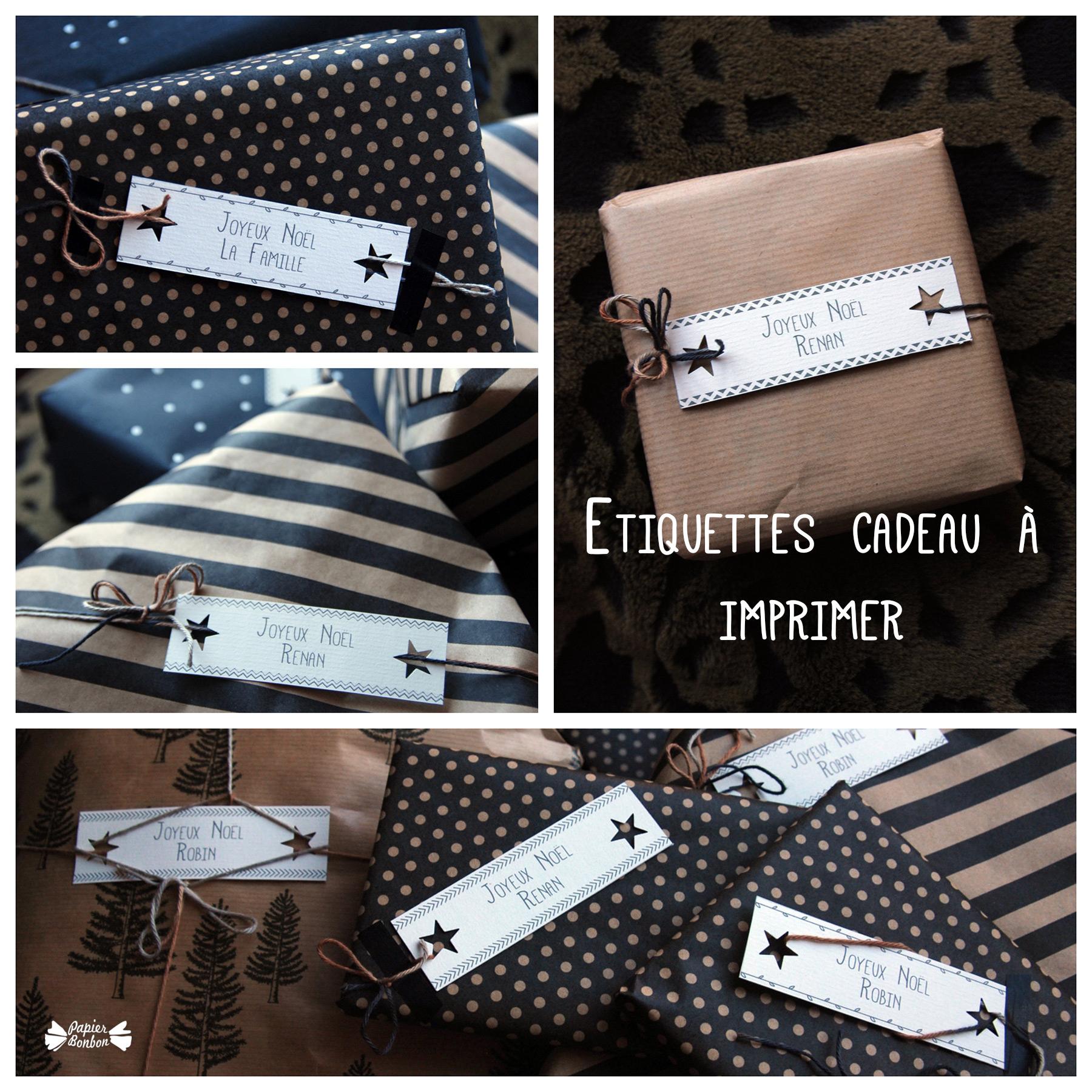 Cadeau : Etiquettes De Noël À Imprimer - Papier Bonbon destiné Etiquette Noel À Imprimer