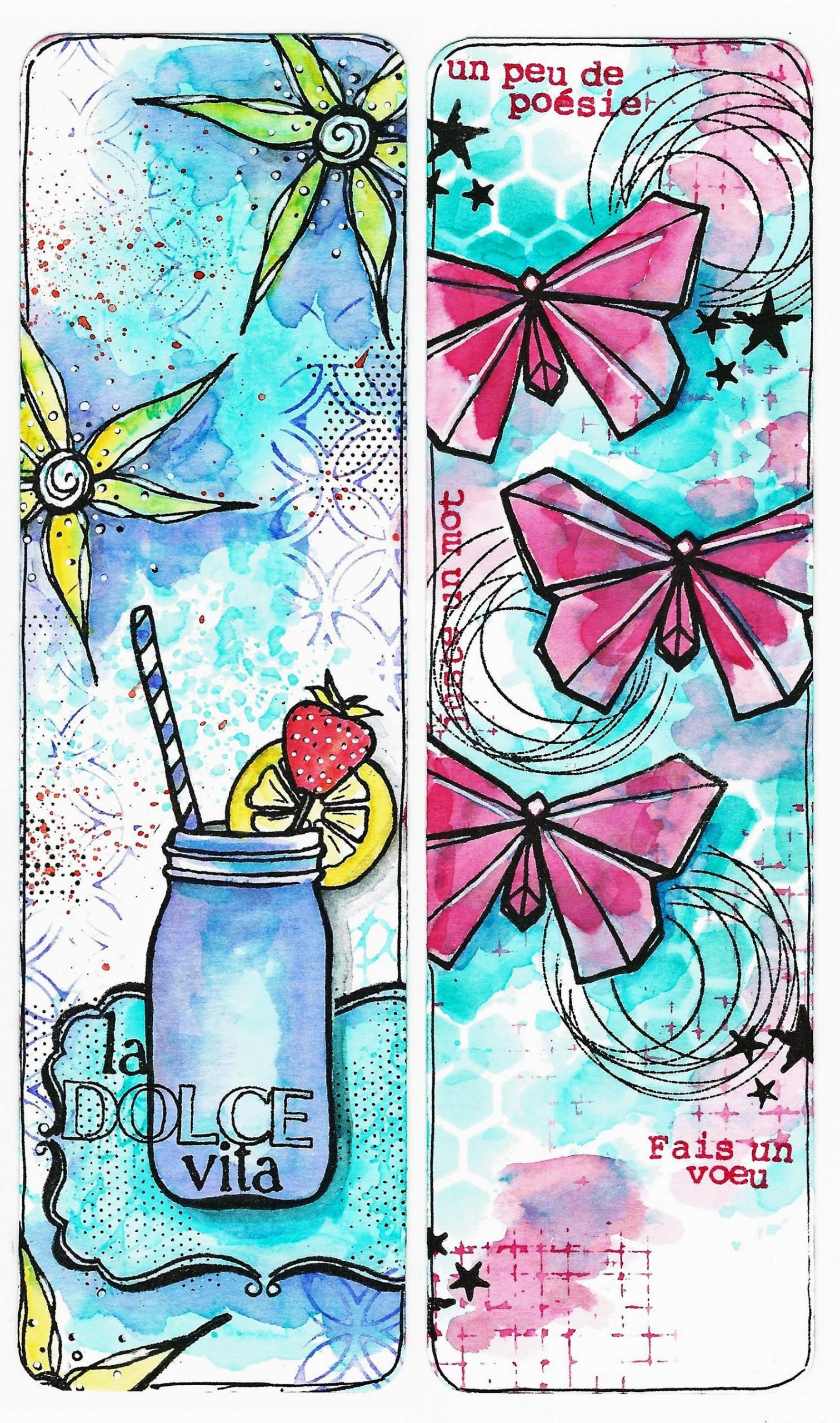 Cadeaux Marques Pages | Signets Faits À La Main intérieur Etiquette Papillon A Imprimer