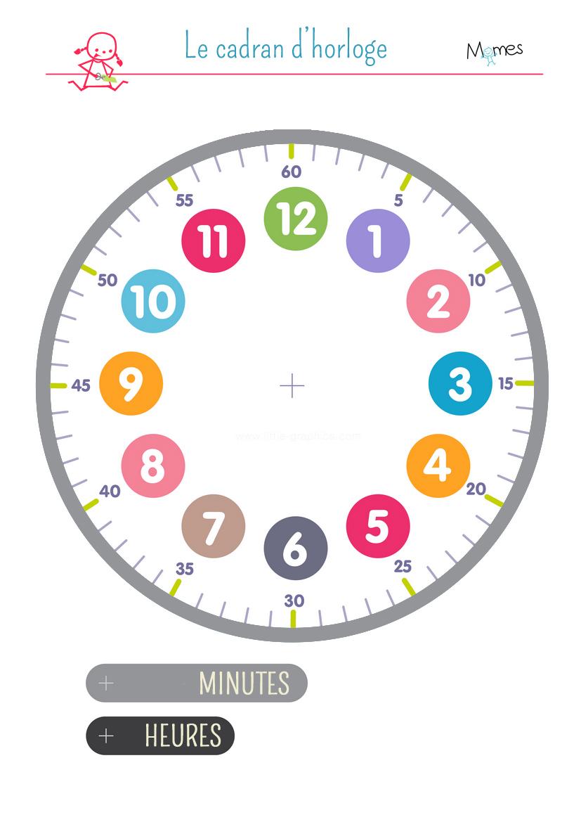 Cadran D'horloge À Imprimer - Momes tout Dessin D Horloge