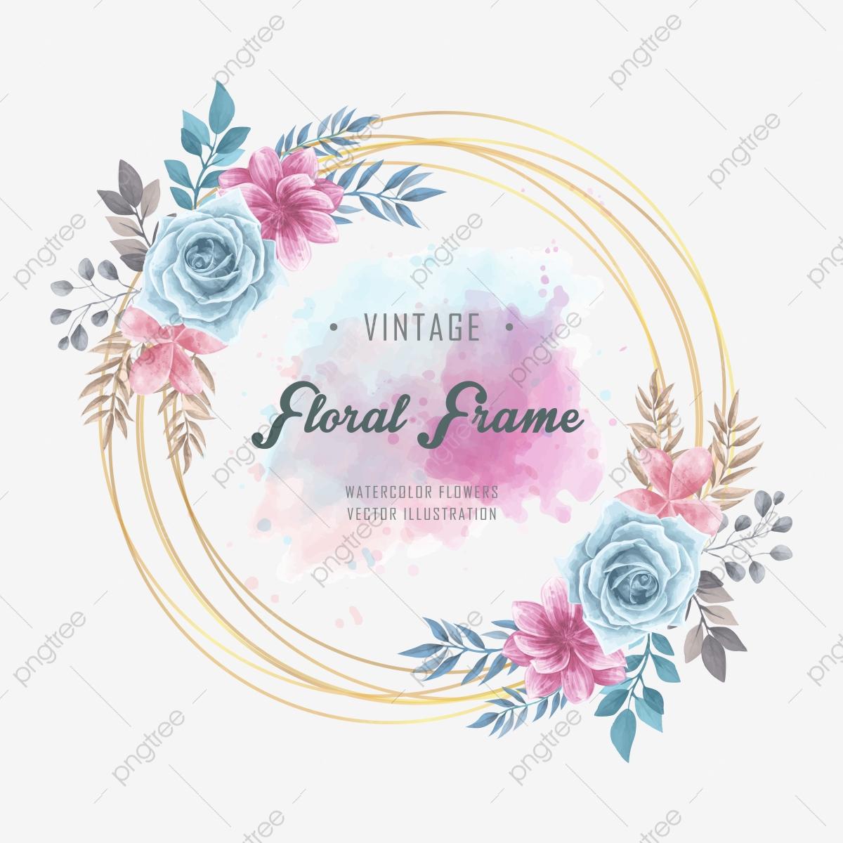 Cadre Fleurs Florales Aquarelle, Contexte, Schéma, Fleur Png tout Schéma D Une Fleur
