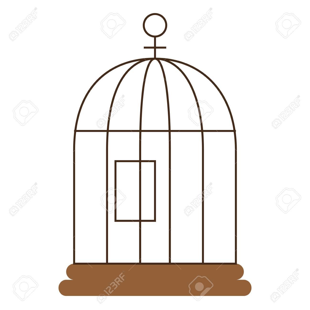 Cage Oiseau Isolé Icône Illustration Vectorielle Design concernant Dessin De Cage D Oiseau