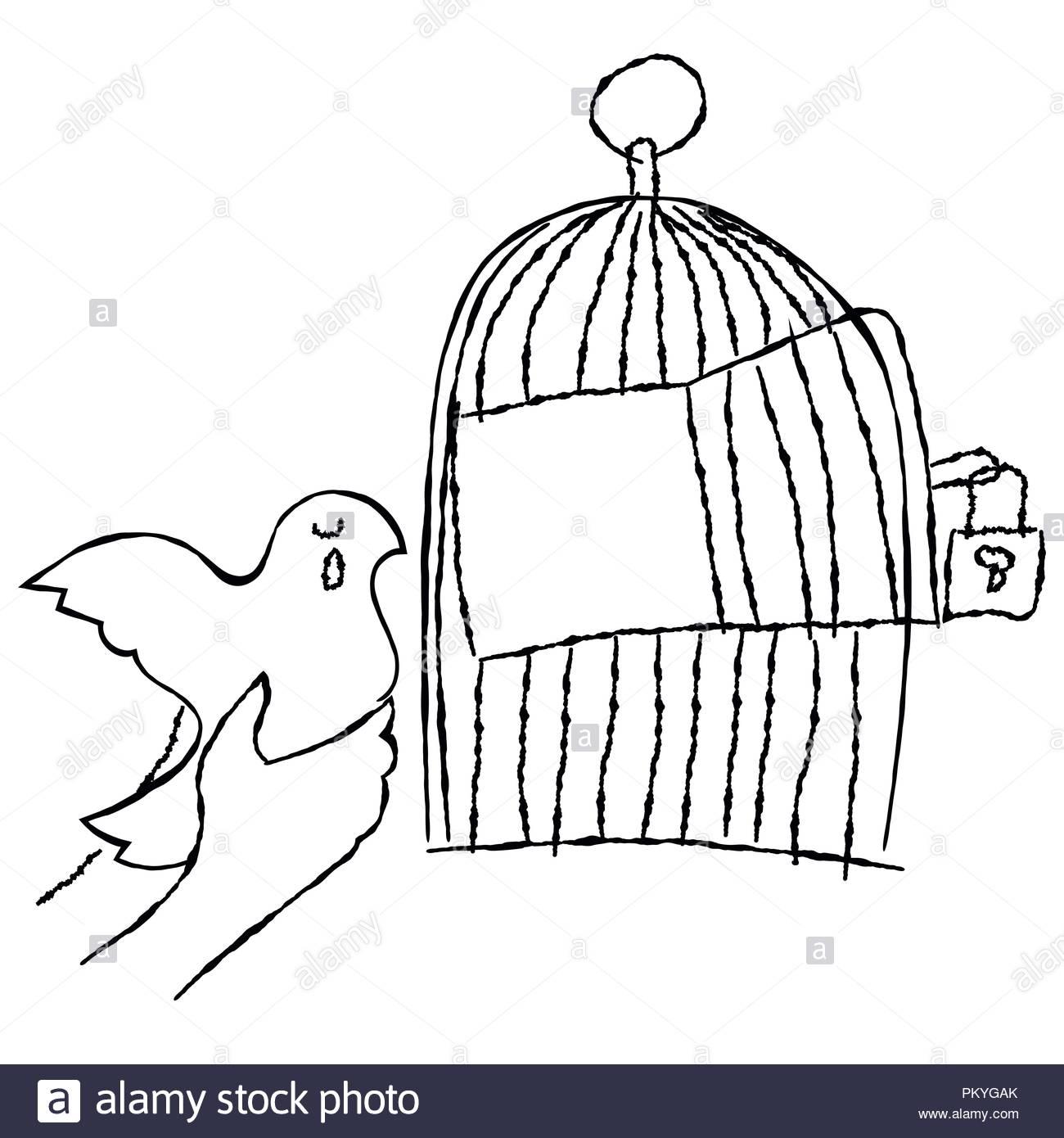 Cage Vectors Photos & Cage Vectors Images - Alamy intérieur Dessin De Cage D Oiseau