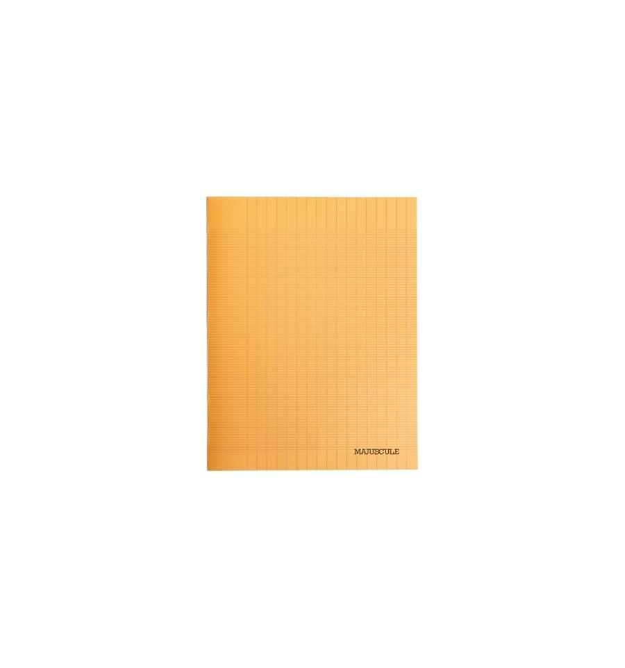 Cahier 96P Couv Polypro 24X32 Seyes Orange dedans Cahier Majuscule