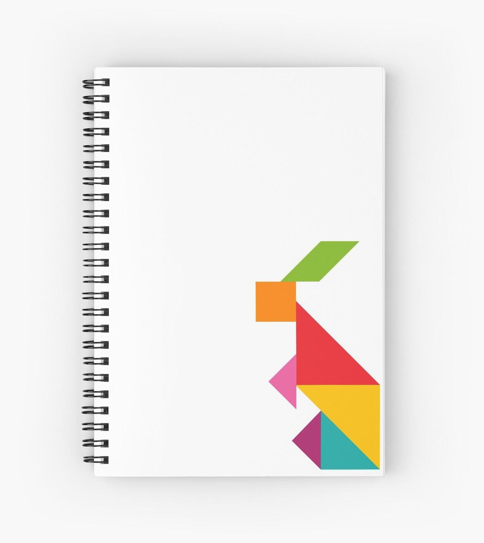Cahier À Spirale 'tangram: Lapin' Par Monsterpuns intérieur Tangram Lapin