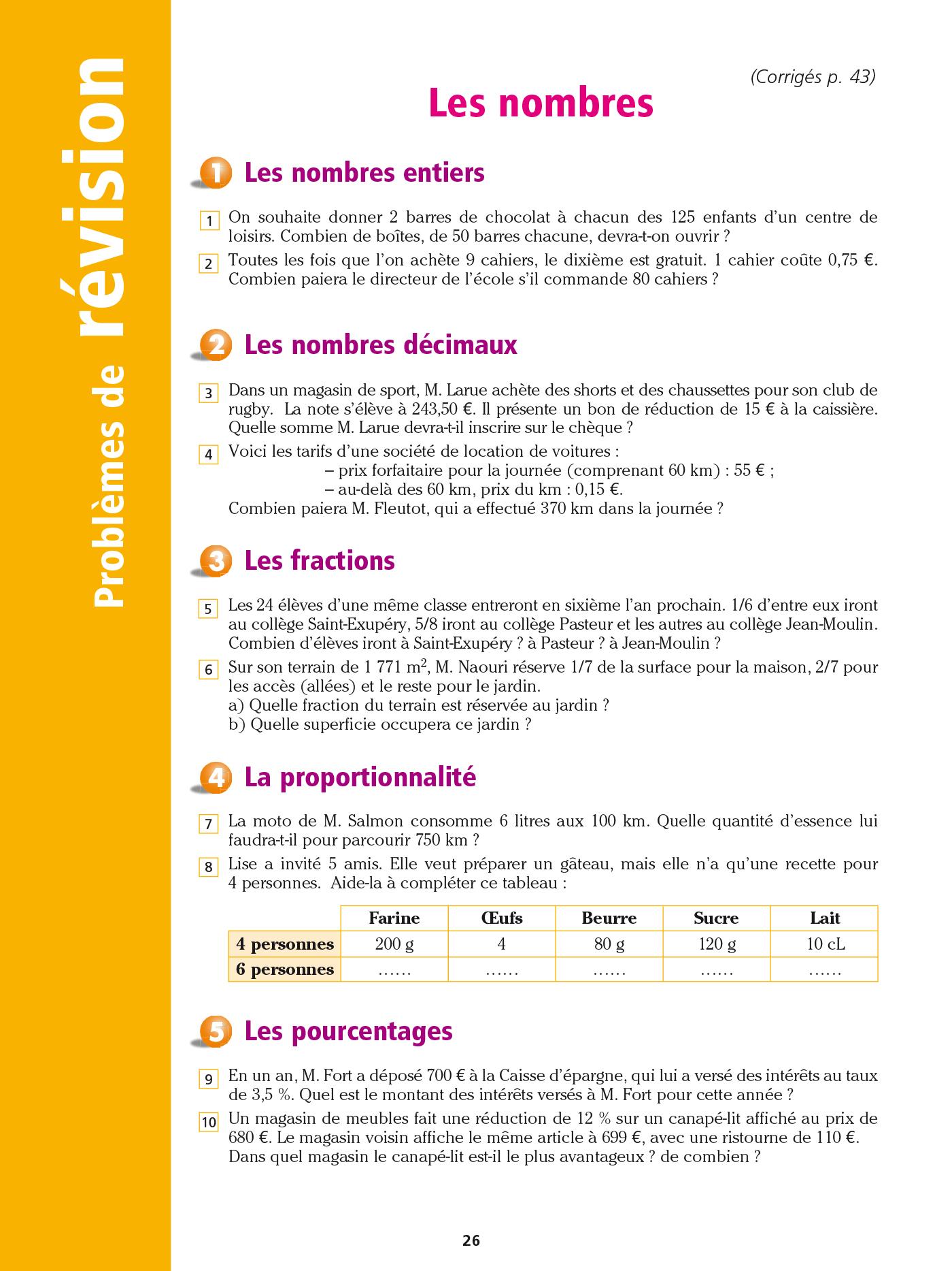 Cahier Bled - Problèmes De Maths Cm2 | Hachette Education tout Exercice Cm2 Gratuit