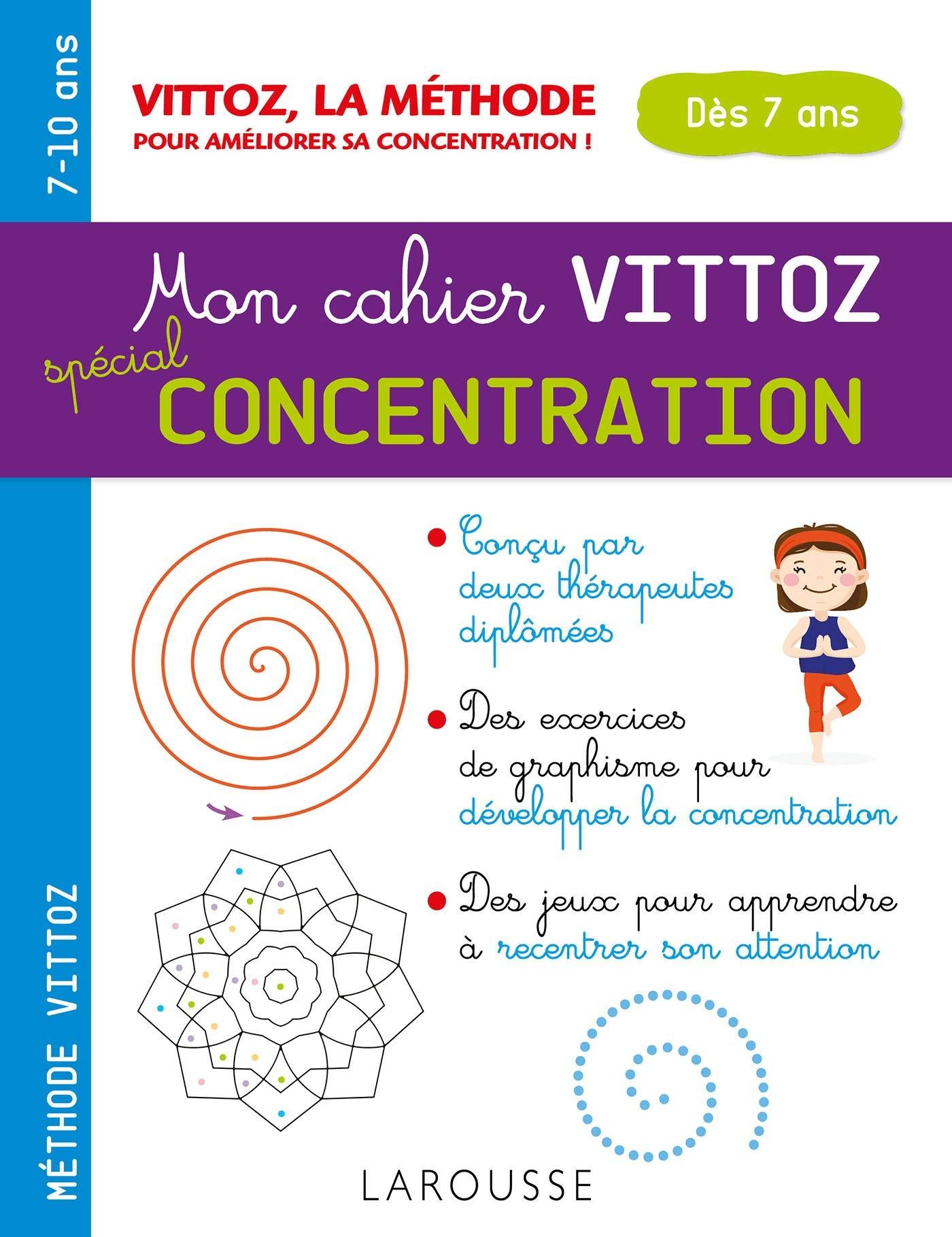 Cahier Concentration Pour Les Enfants : 30 Activités Et Jeux encequiconcerne Jeux Pour Enfant De 7 Ans