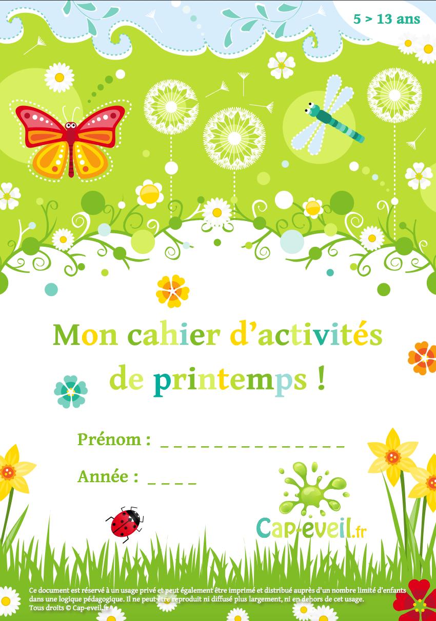 Cahier D'activités À Imprimer Pour Les Jeunes Élèves Du dedans Cahier De Vacances Gratuit A Imprimer