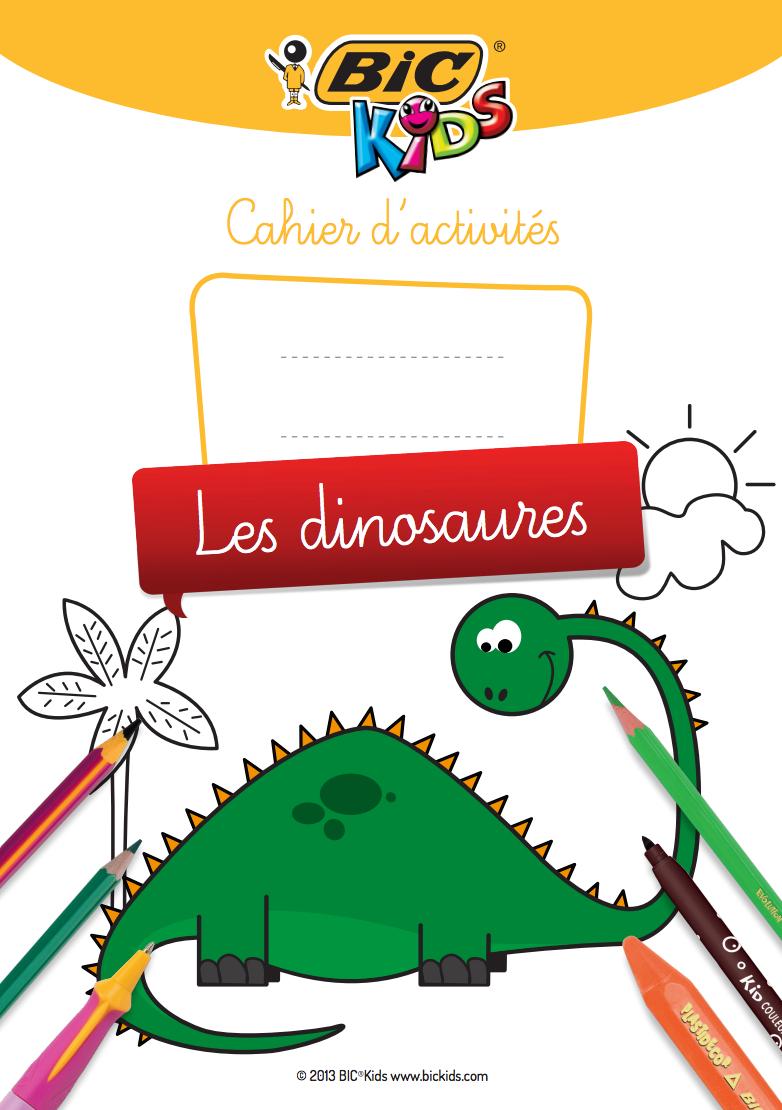 Cahier D'activités À Imprimer Sur Le Thème Des Dinosaures encequiconcerne Cahier D Activité A Imprimer