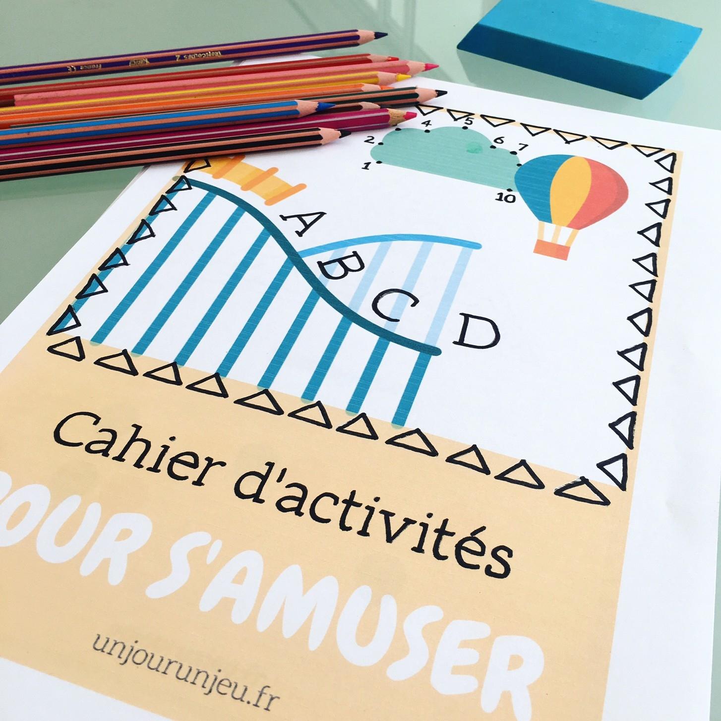Cahier D'activités Enfants Pour Les Vacances À Imprimer serapportantà Cahier D Activité Maternelle