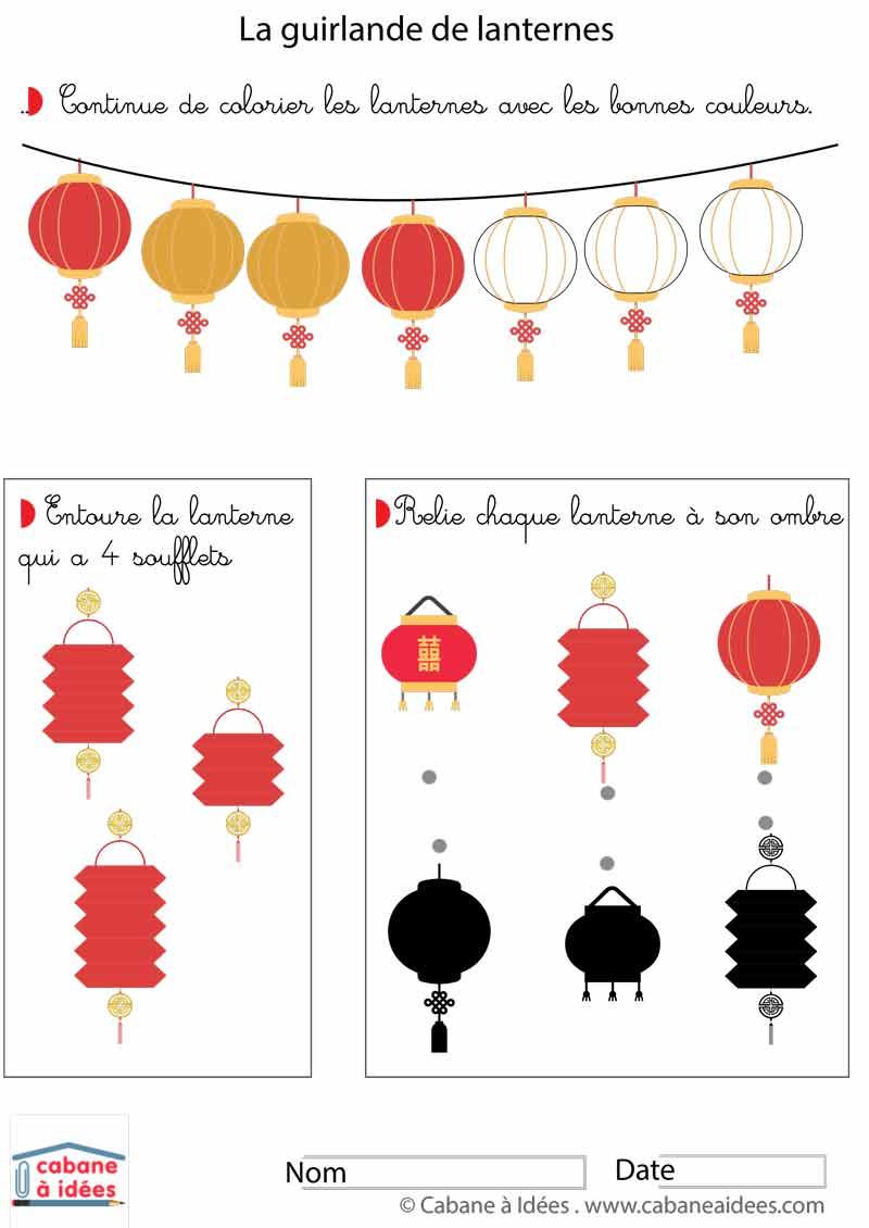 Cahier D'activités - Nouvel An Chinois - 3 À 6 Ans - Cabane À Idées dedans Activité A Imprimer 2 3 Ans