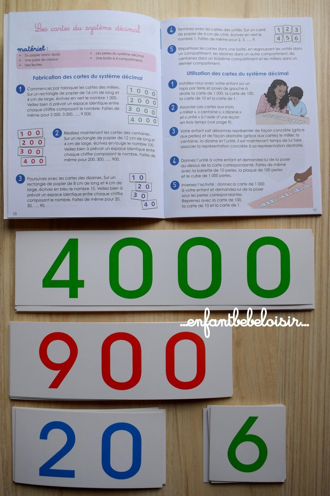 Cahier D'apprentissage Montessori Pour Compter - Les Grands dedans Gros Chiffres À Imprimer