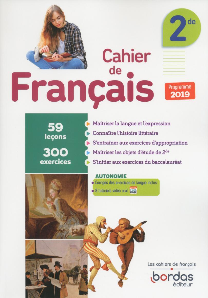 Cahier De Français 2De * Cahier D'activités/d'exercices (Ed destiné Cahier D Activité A Imprimer