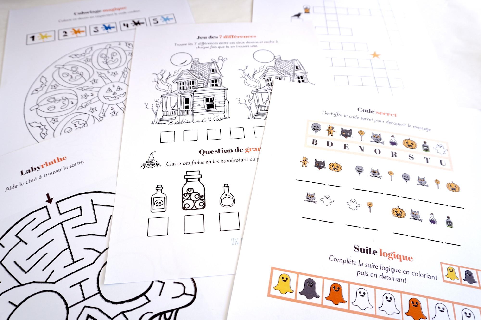 Cahier De Jeux Pour Halloween : Plein D'activités Pour à Telecharger Jeux Enfant
