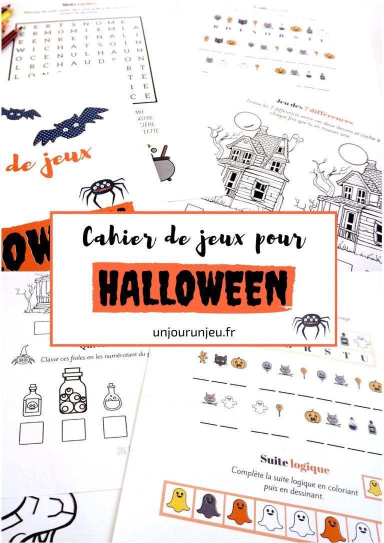 Cahier De Jeux Pour Halloween : Plein D'activités Pour destiné Jeux 3 À La Suite
