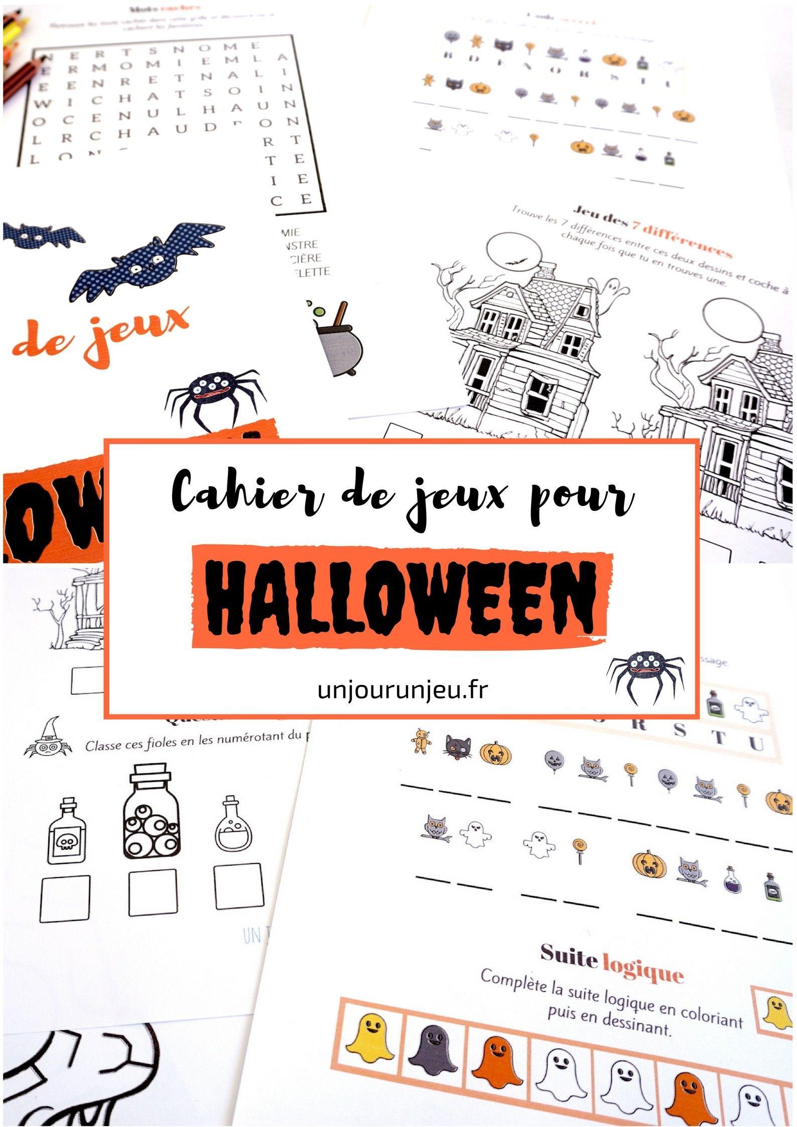 Cahier De Jeux Pour Halloween : Plein D'activités Pour intérieur Cahier D Activité A Imprimer