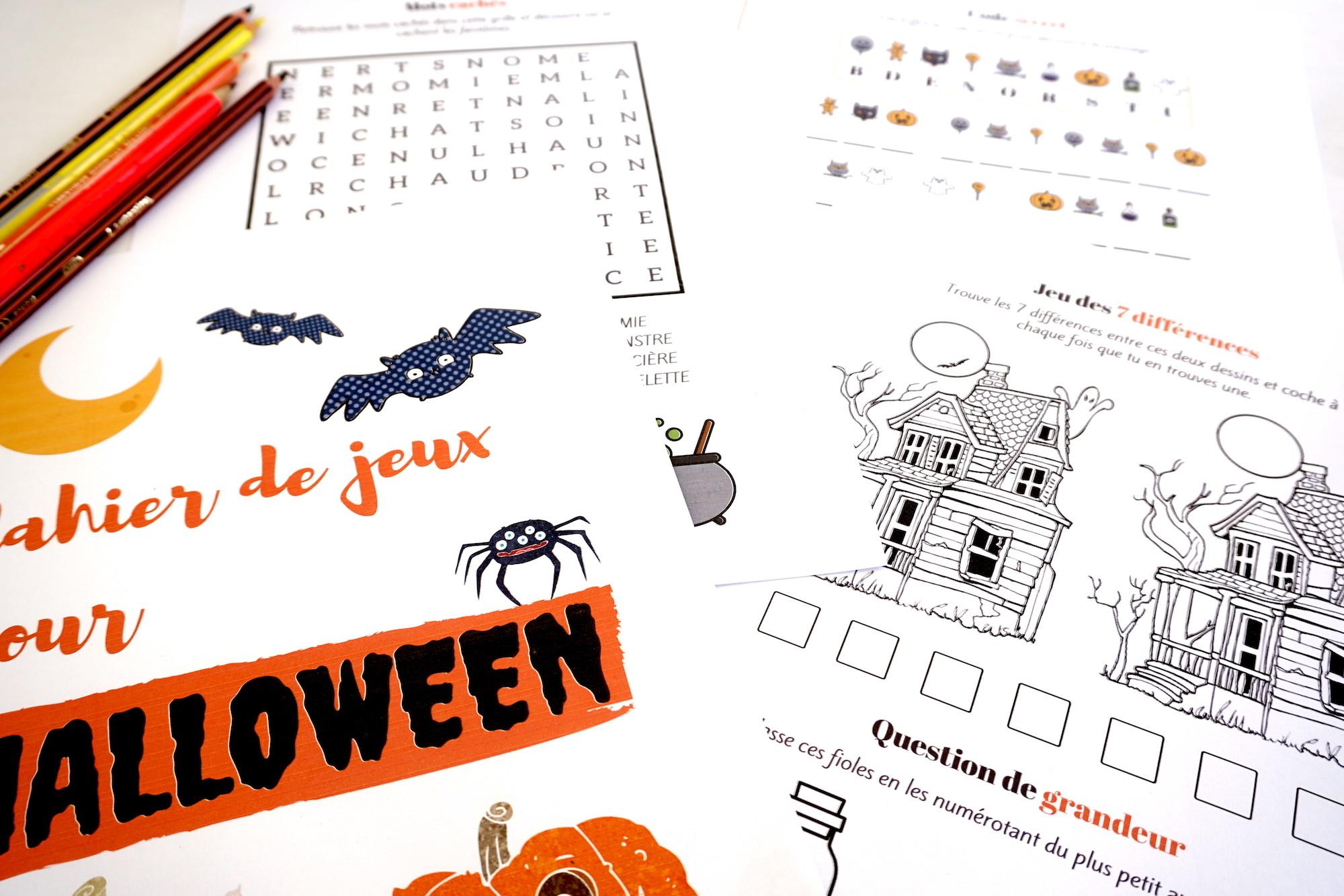 Cahier De Jeux Pour Halloween : Plein D'activités Pour tout Jeux Des Differences Gratuit A Imprimer
