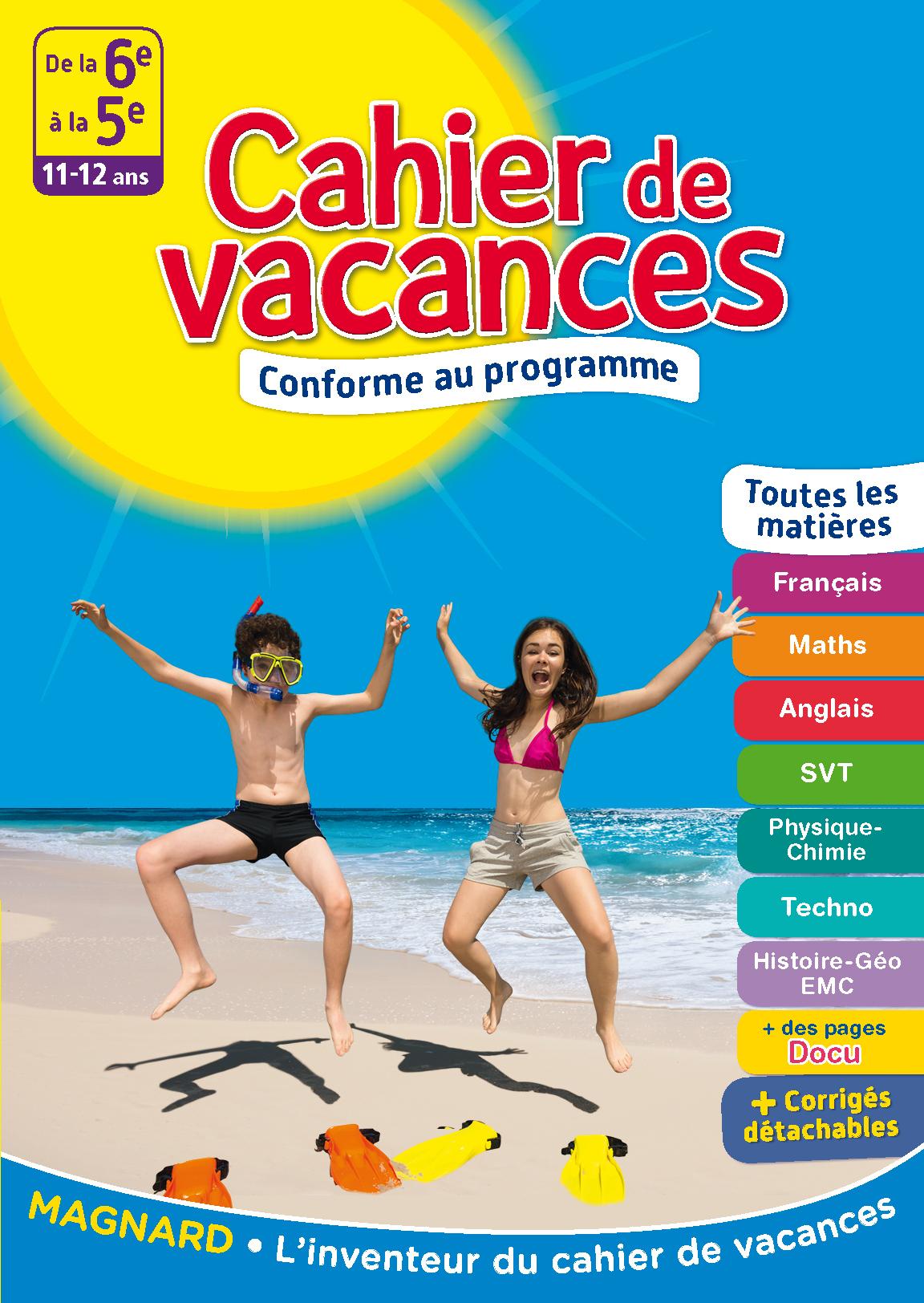 Cahier De Vacances - De La 6E À La 5E | Magnard Parascolaire dedans Cahier De Vacances Maternelle Pdf