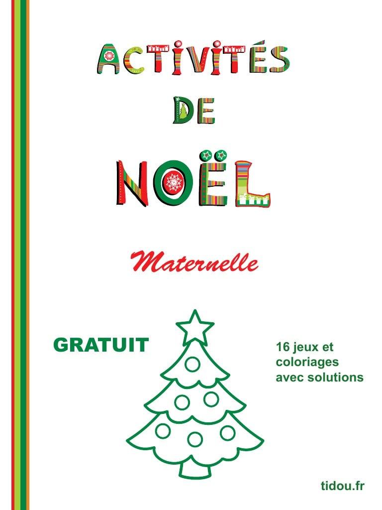 Cahier De Vacances De Noël À Imprimer Par Tidou.fr - Cahier avec Cahier De Vacances Maternelle Pdf