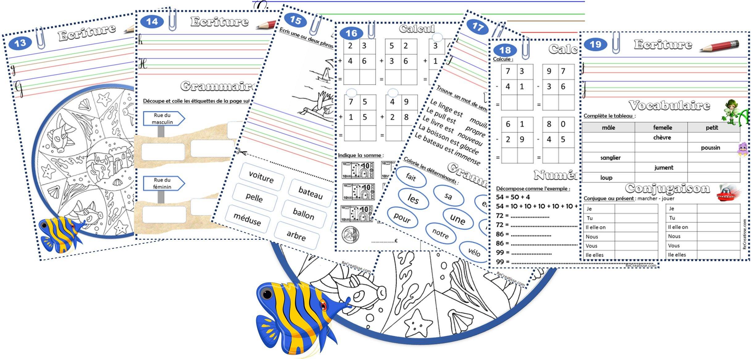 Cahier De Vacances • Recreatisse destiné Cahier De Vacances À Imprimer