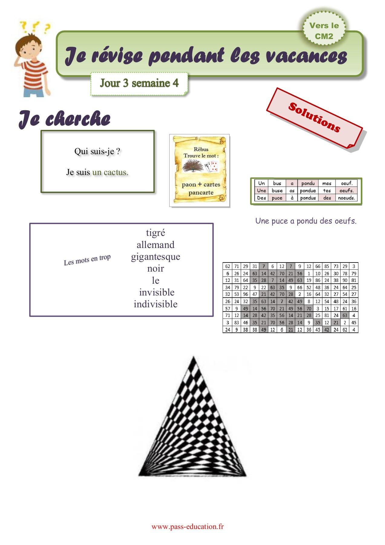 Cahier De Vacances Gratuit À Imprimer - Cm1 Vers Le Cm2 à Cahier De Vacances Gratuit A Imprimer