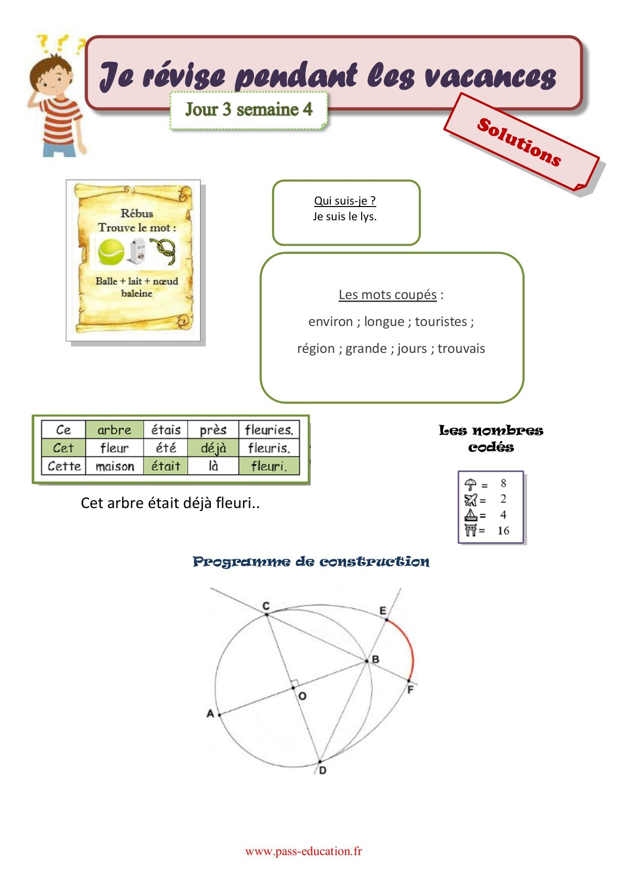 Cahier De Vacances Gratuit À Imprimer - Cm2 Vers La 6Ème à Cahier De Vacances Gratuit A Imprimer 6Eme 5Eme