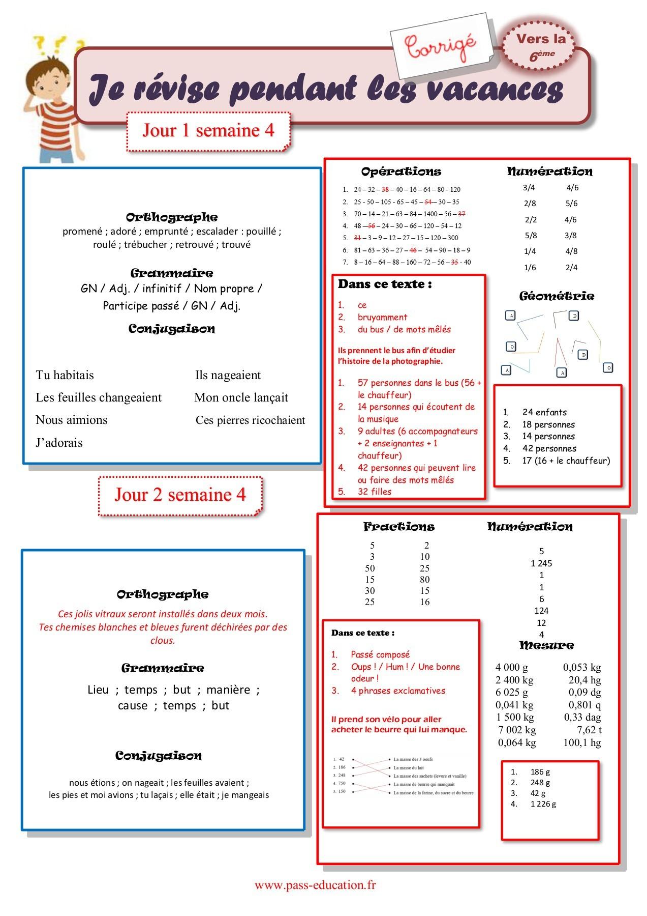Cahier De Vacances Gratuit À Imprimer - Cm2 Vers La 6Ème concernant Mots Mêlés Cm2