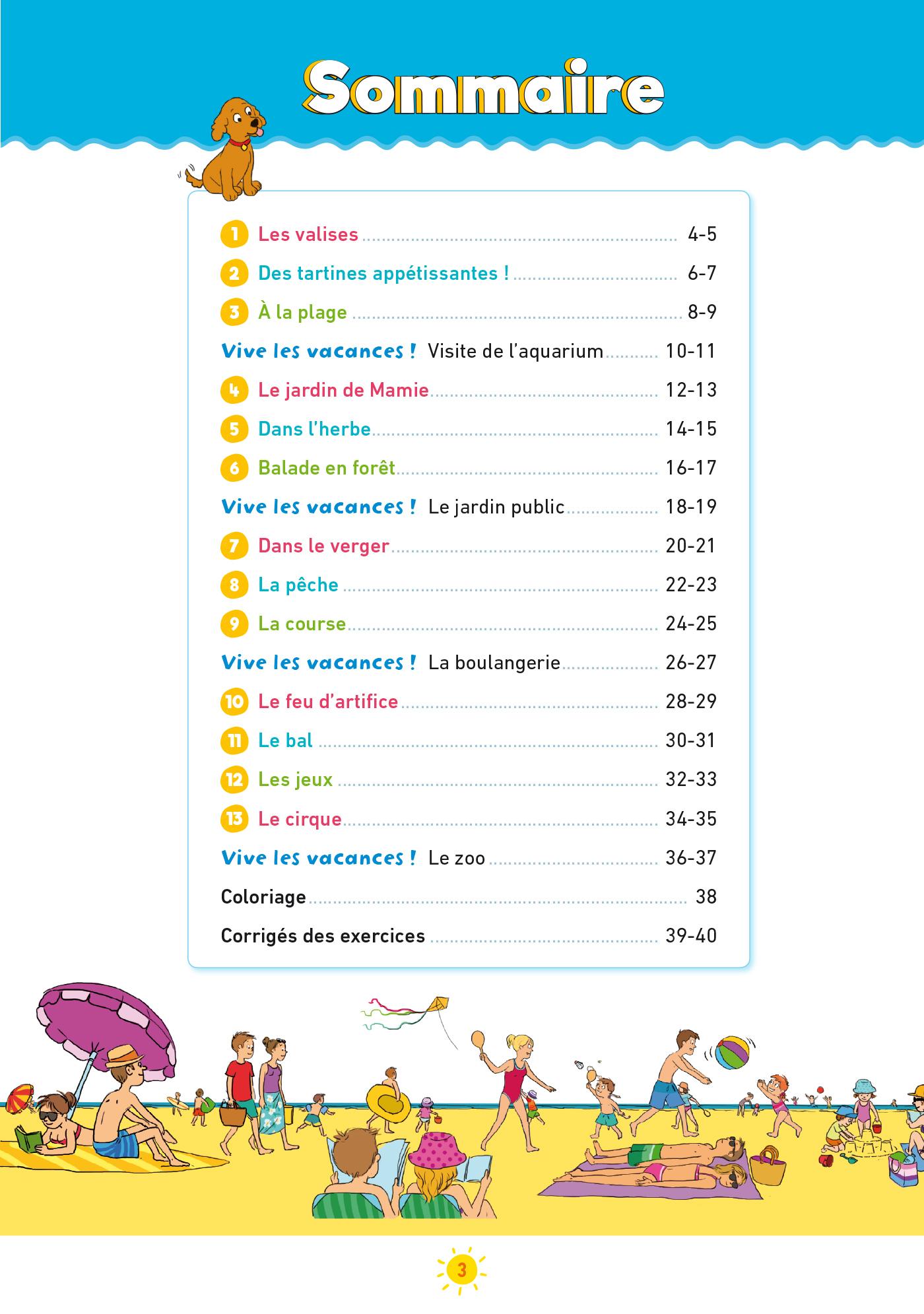 Cahier De Vacances Sami Et Julie De La Ps À La Ms encequiconcerne Cahier De Vacances Moyenne Section A Imprimer