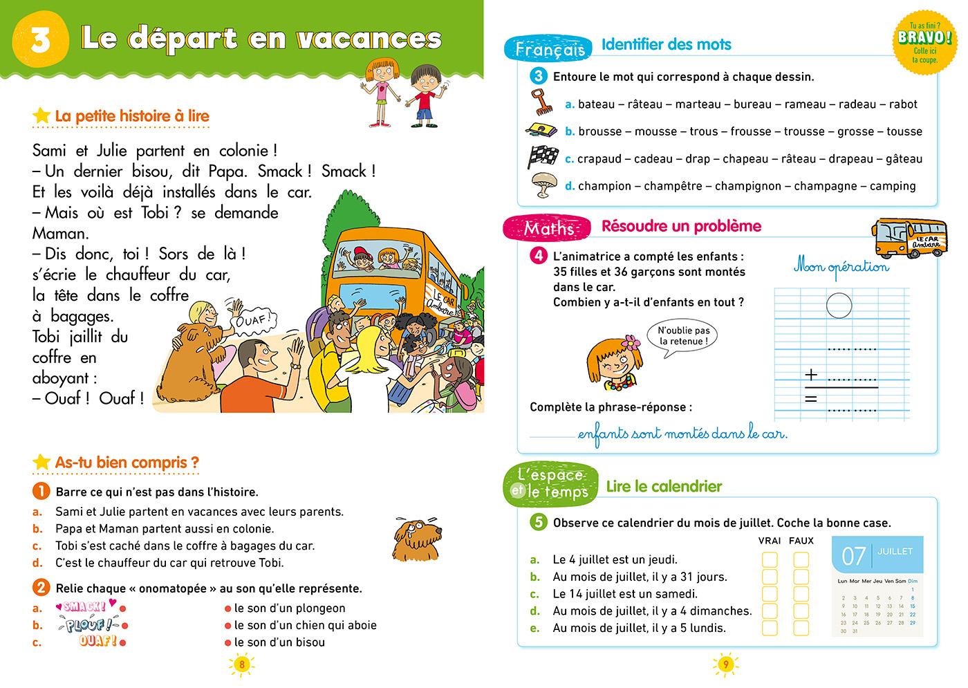 Cahier De Vacances Sami Et Julie Du Ce1 Au Ce2 tout Cahier De Vacances Gratuit En Ligne