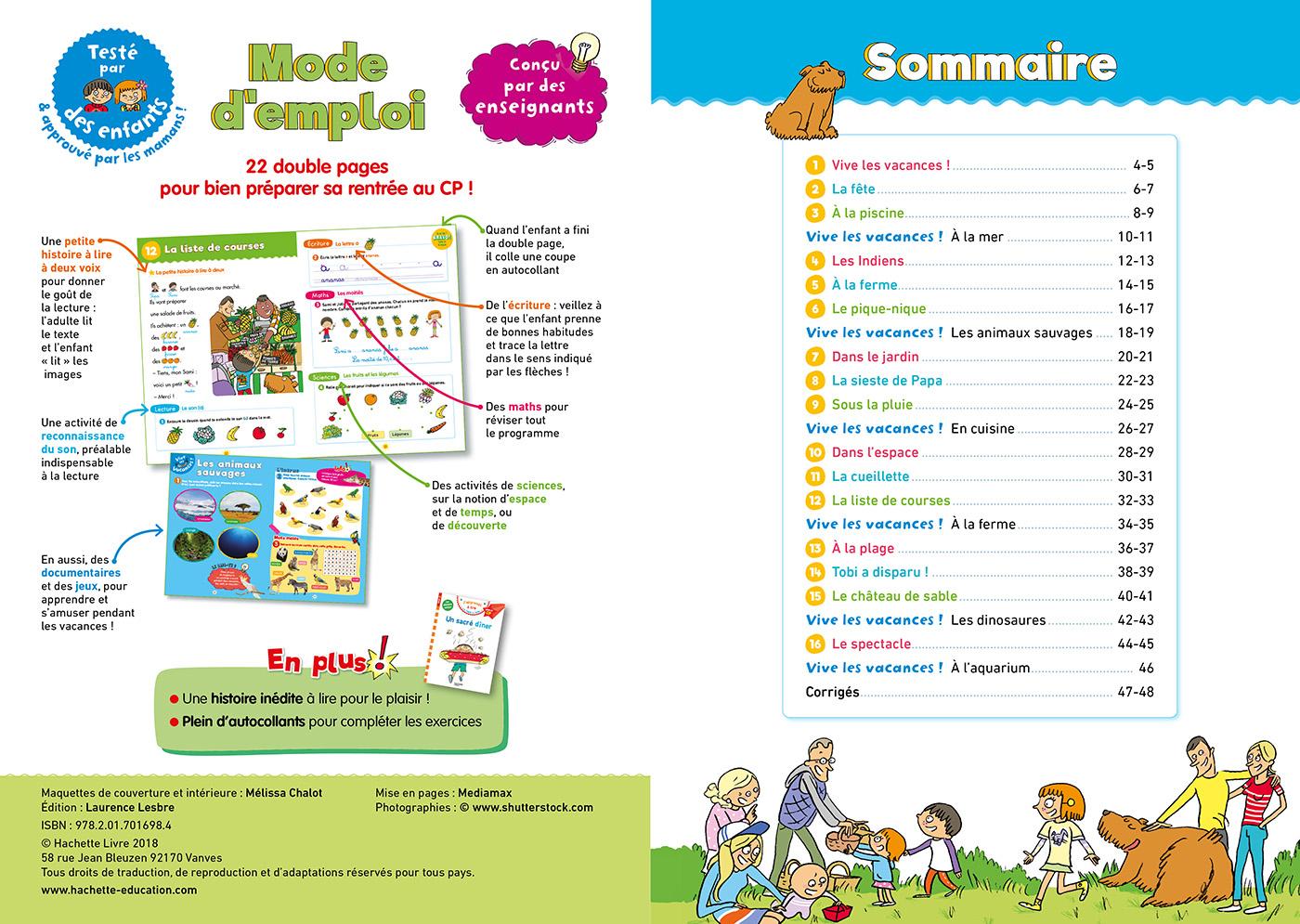 Cahier De Vacances Sami Et Julie Je Me Prépare Au Cp dedans Cahier De Vacances Maternelle Gratuit A Imprimer