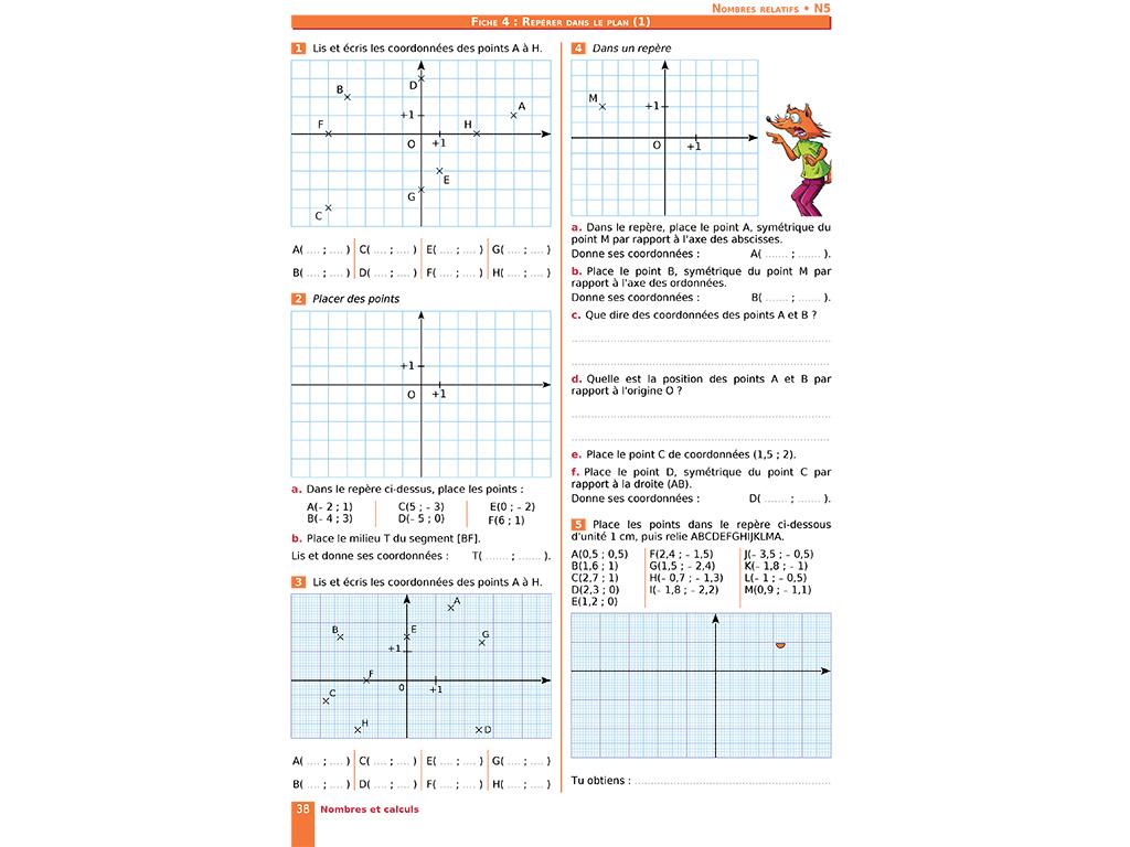 Cahier D'exercices Iparcours Maths 5E (Éd. 2019) destiné Symétrie Cm1 Évaluation